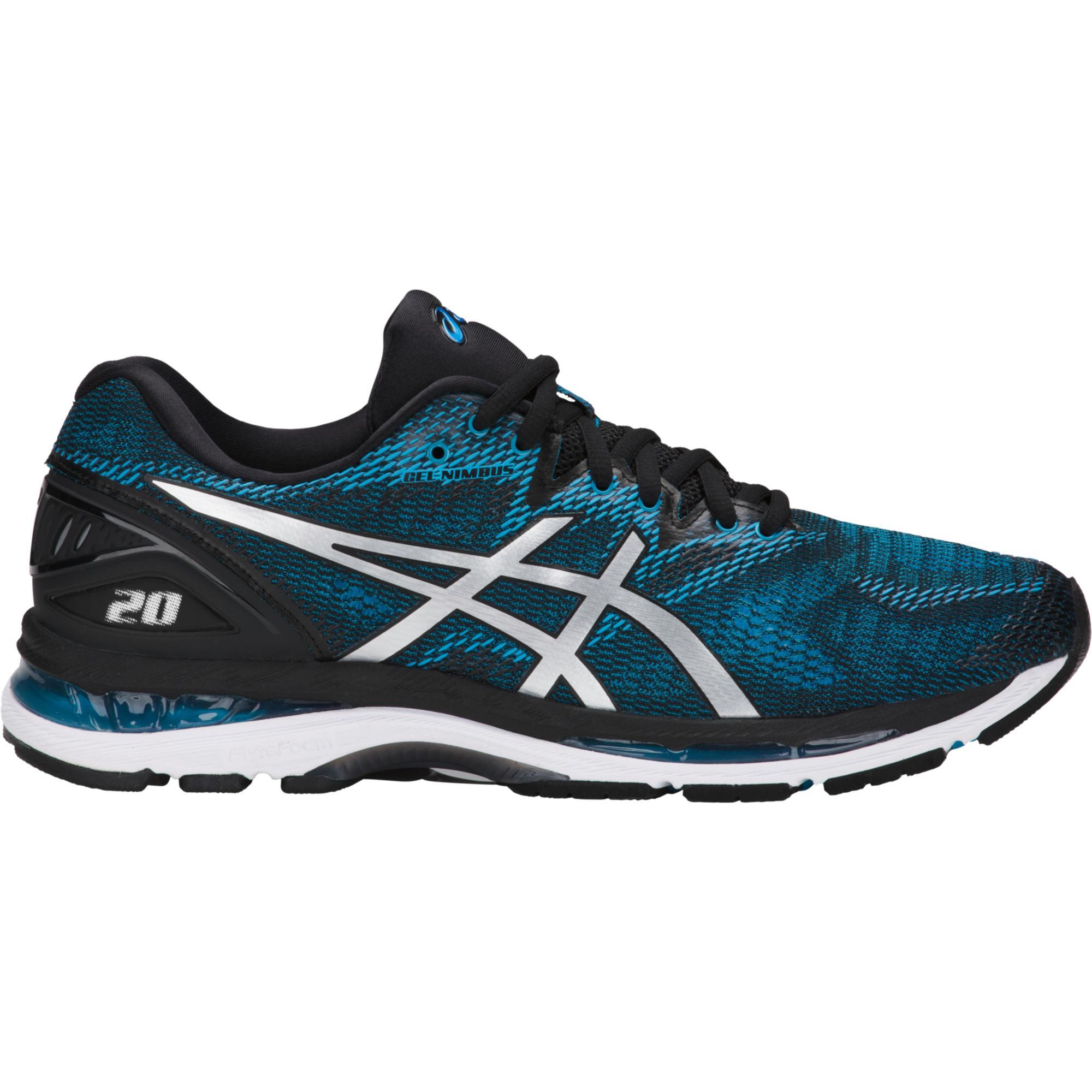 Asics Mens Gel Nimbus 20 Running Shoes Island Blue Black