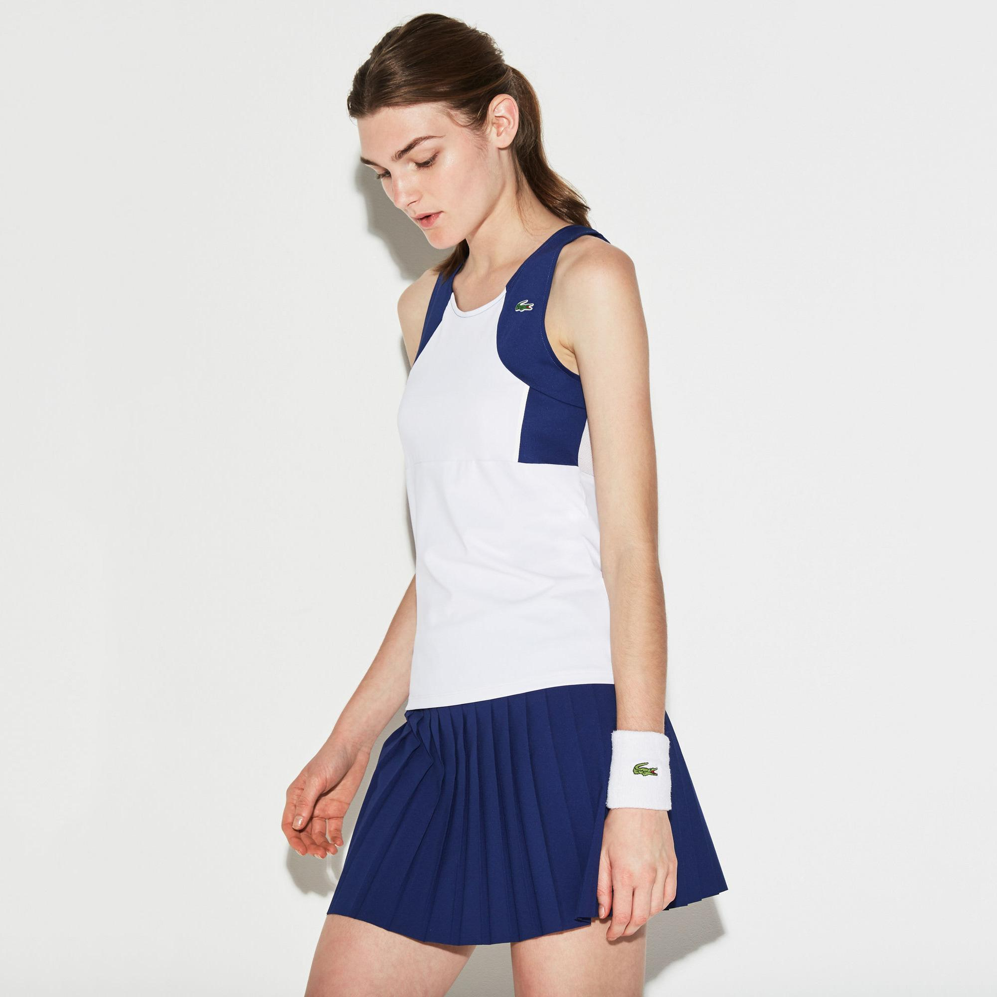 Lacoste Womens Stretch Jersey Tank - Blue/Ocean ...