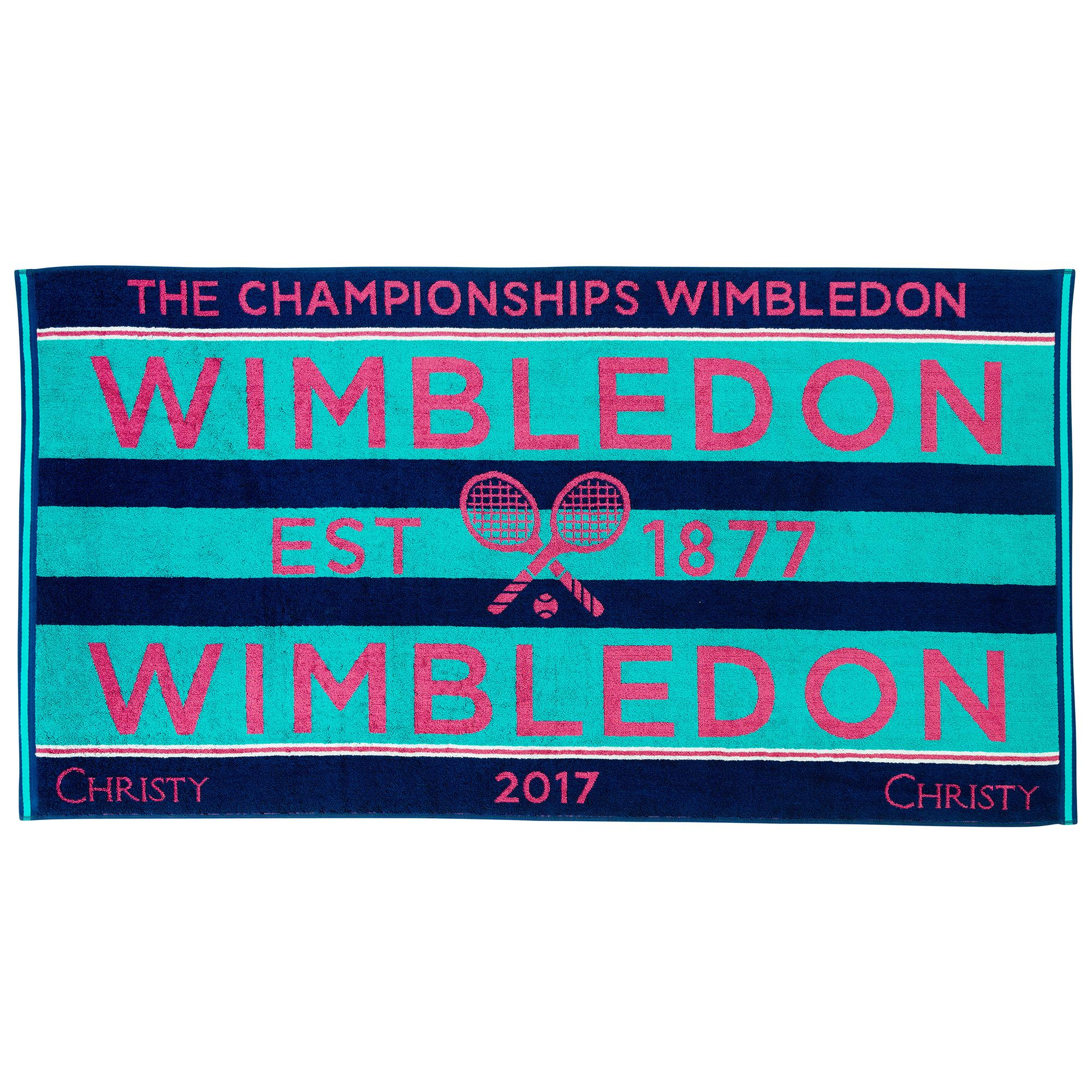 2017 Wimbledon Finals Brackets Back To The Future: Christy Wimbledon 2017 Championships Towel