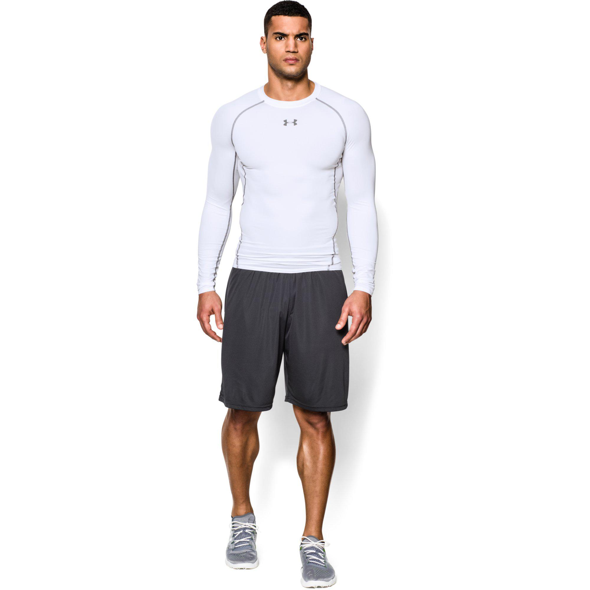 under armour mens heatgear long sleeve compression top. Black Bedroom Furniture Sets. Home Design Ideas