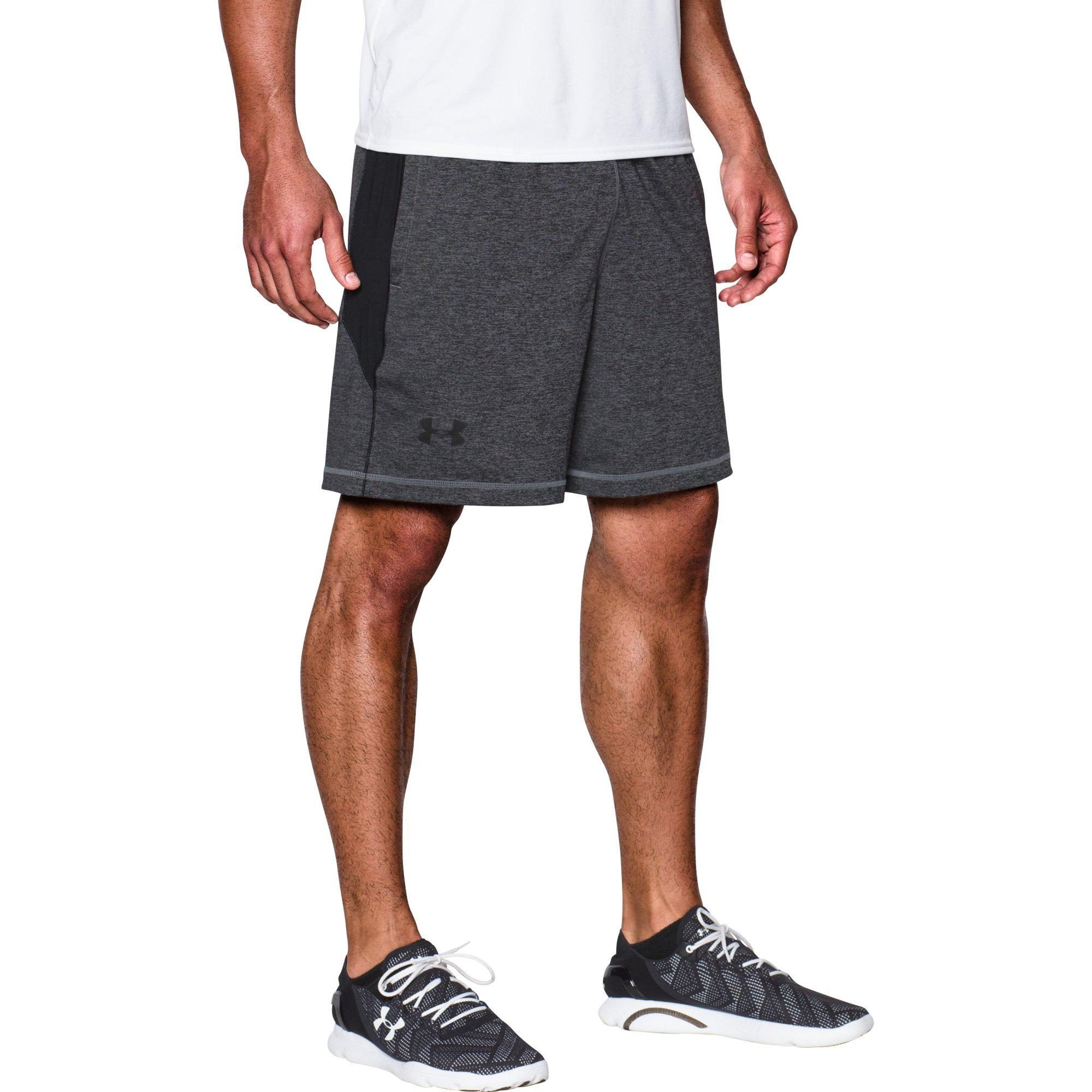 08daaa35b Under Armour Mens Raid 8 Inch Shorts - Steel - Tennisnuts.com
