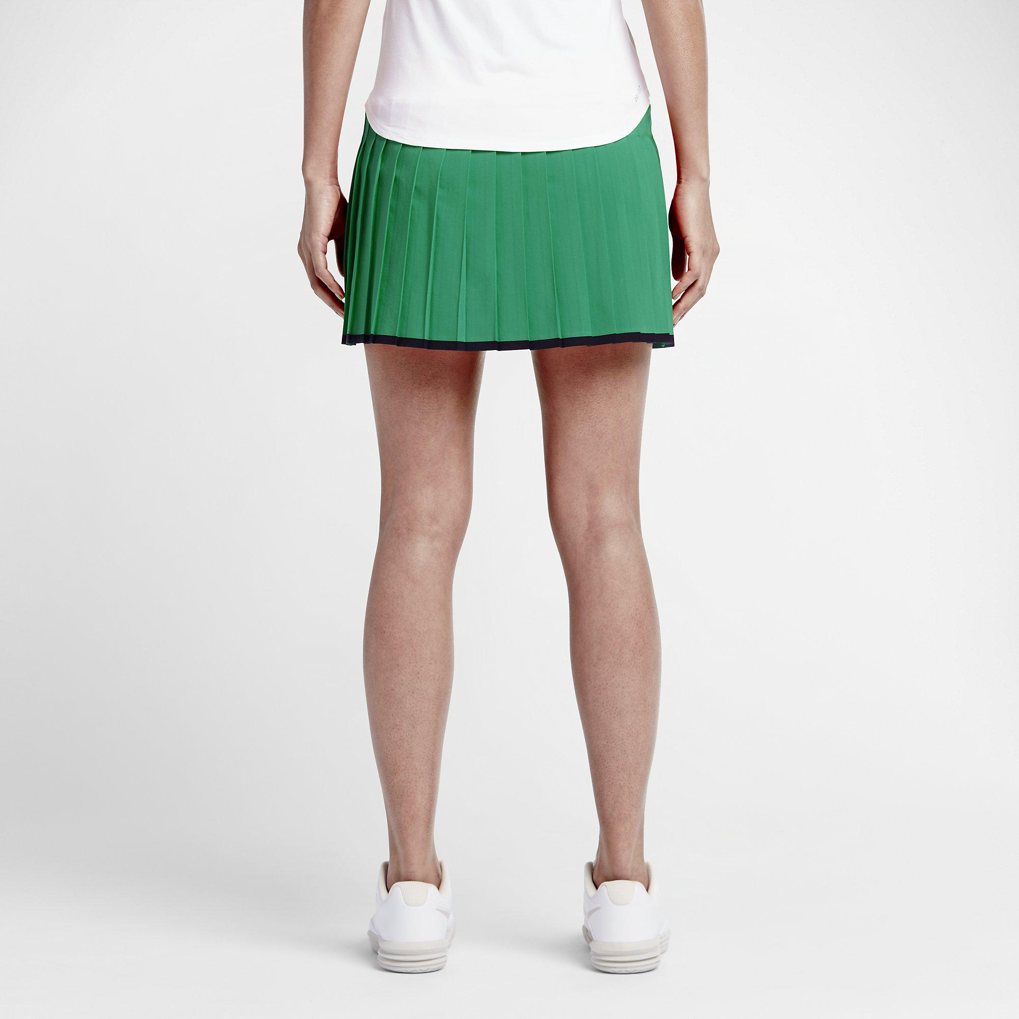 Out Of Stock. Nike Womens Victory Tennis Skort [Regular/Long] - Lucid Green/ Black ...