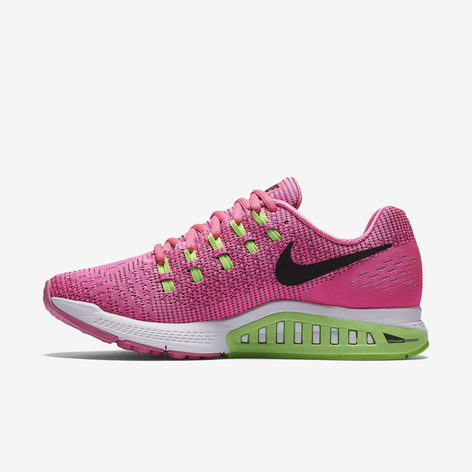 wholesale dealer 4cfa9 4d82a Nike Womens Air Zoom Structure 19 Running Shoes - Pink