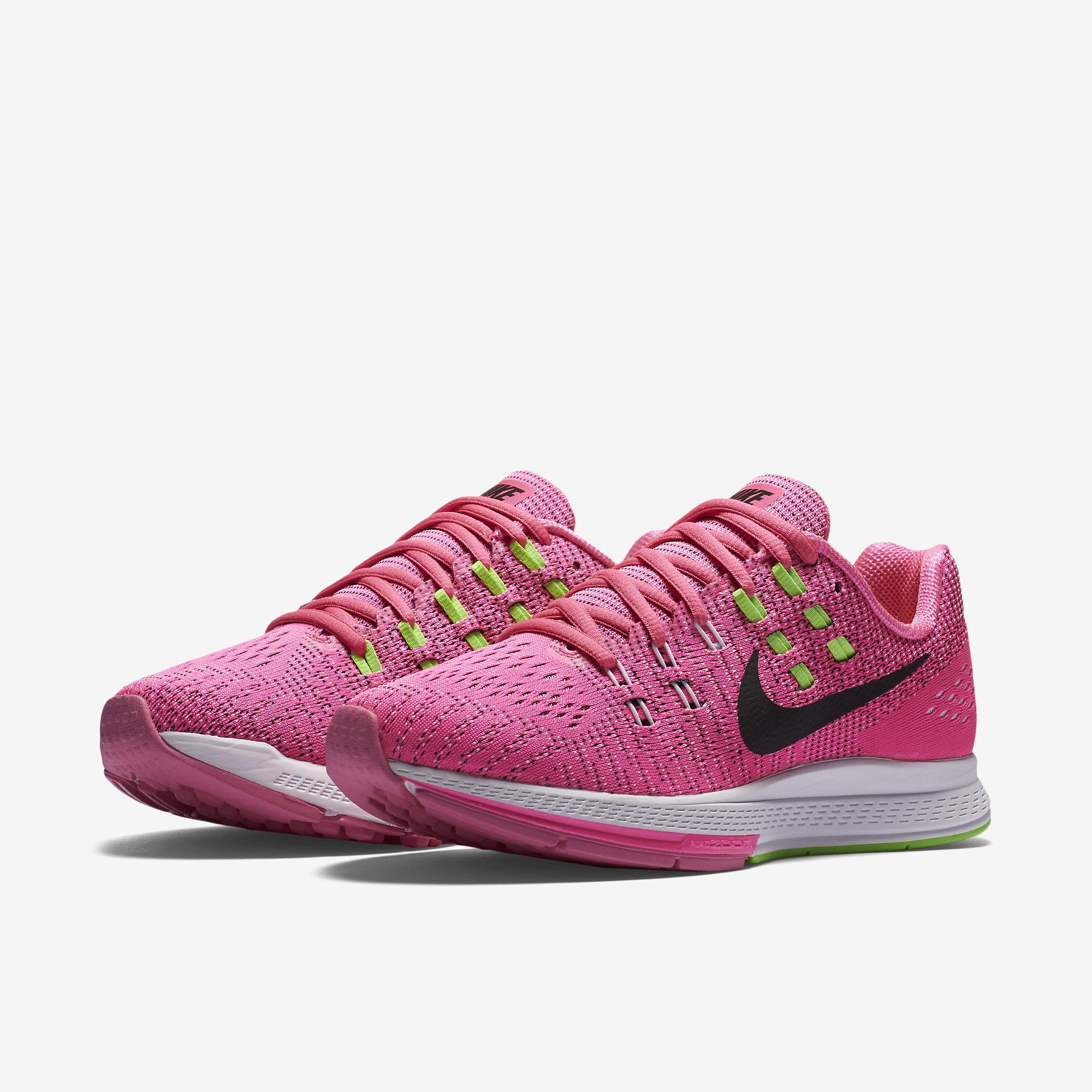 wholesale dealer e6c4d bcb1a Nike Womens Air Zoom Structure 19 Running Shoes - Pink