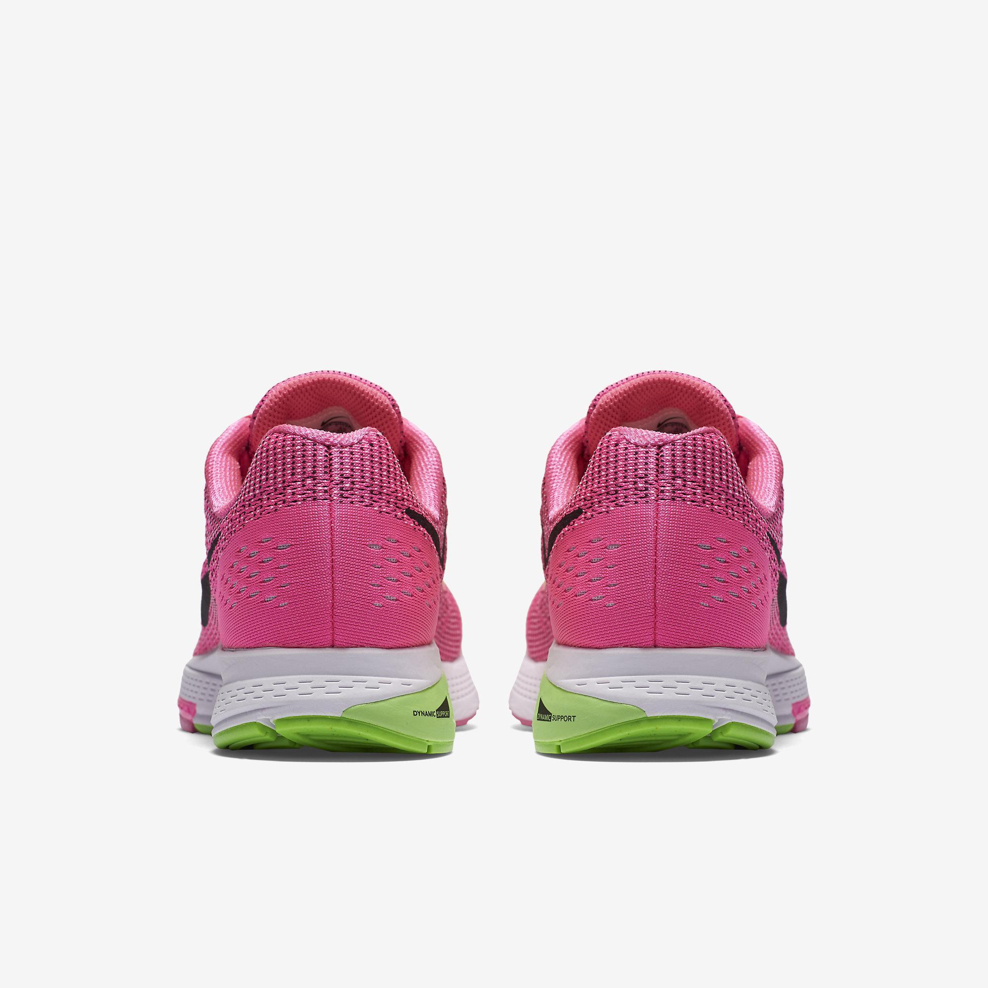 511ebd80d846 Nike Womens Air Zoom Structure 19 Running Shoes - Pink - Tennisnuts.com