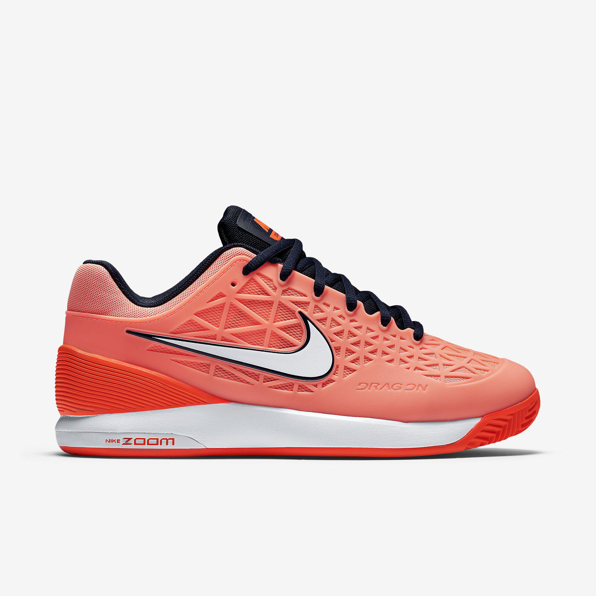 e4467d538de5 Nike Womens Zoom Cage 2 Clay Court Tennis Shoes - Atomic Pink   Crimson -  Tennisnuts.com