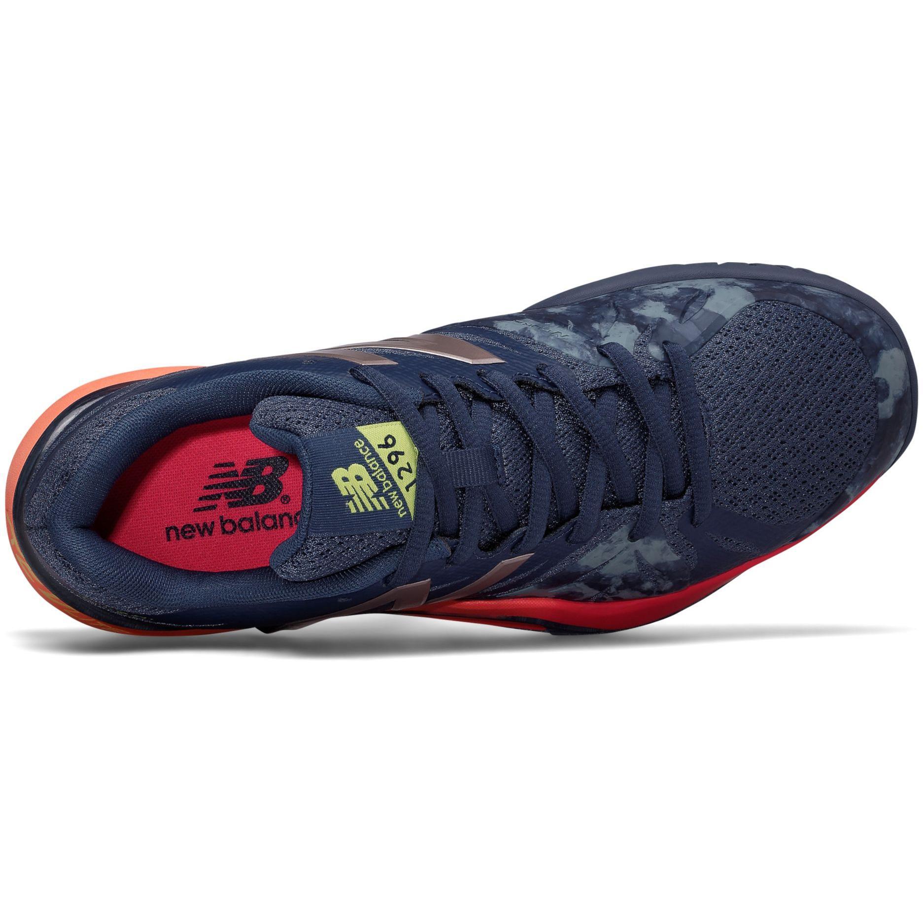 4f94894fc3c20 New Balance Womens 1296v2 Tennis Shoes - Indigo/Pink (B ...