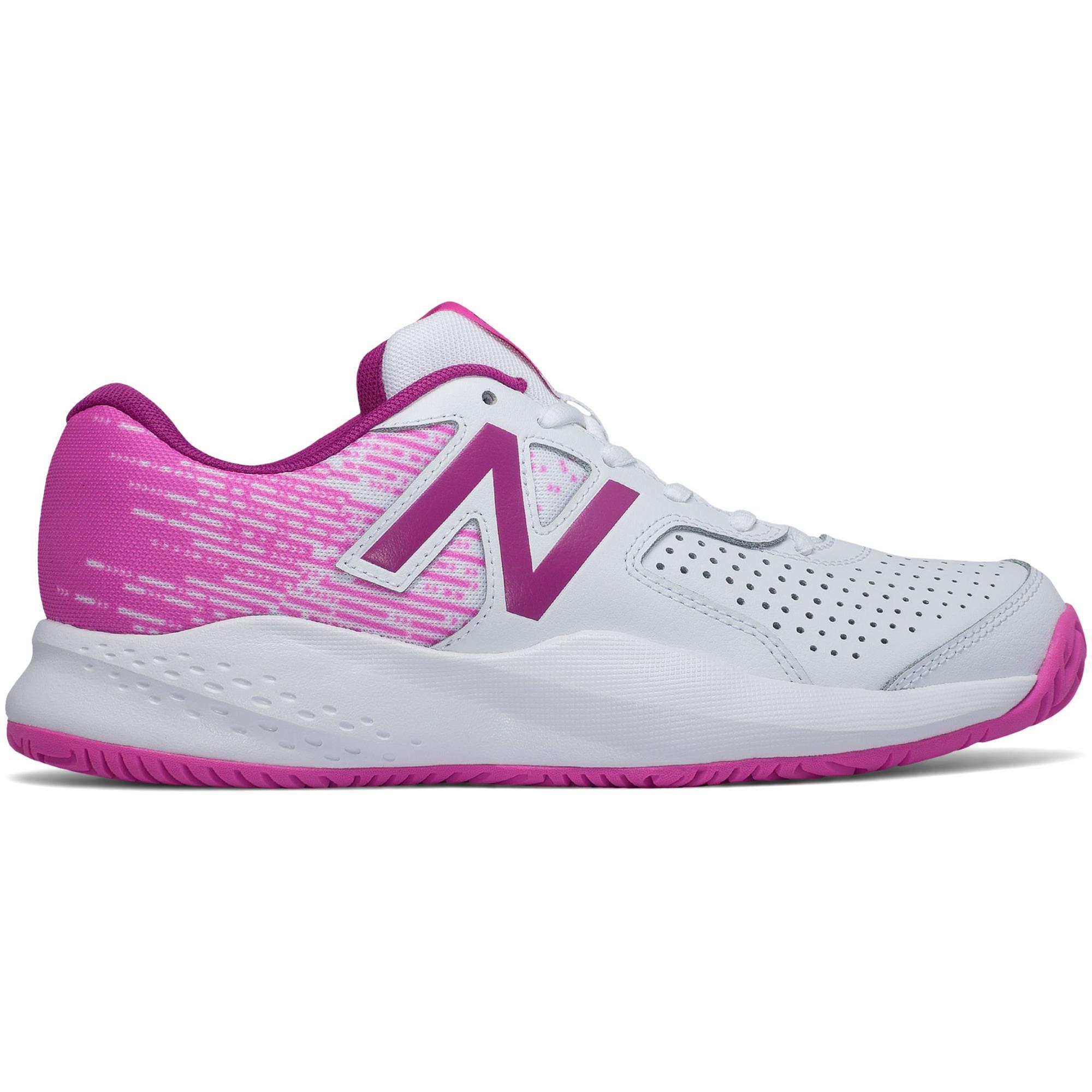 New Balance Womens 696v3 Tennis Shoes - White/Pink ...