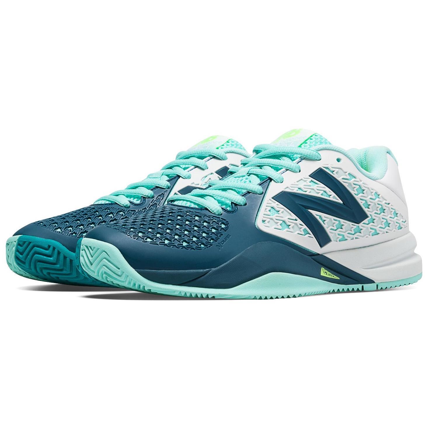 New Balance Womens 996v2 Tennis Shoes - Sea Blue (B)