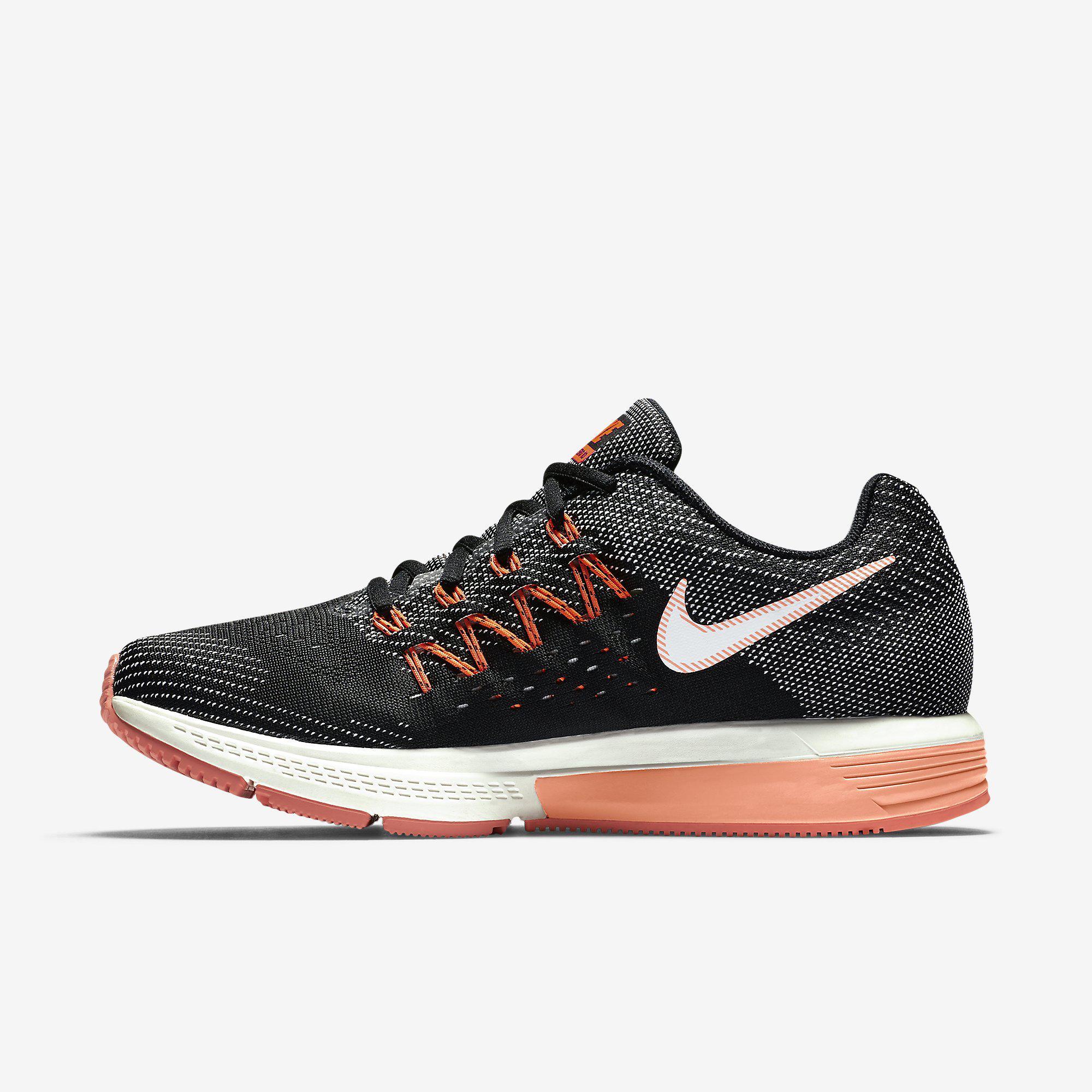 Nike Womens Air Zoom Vomero 10 Running Shoes - Black Orange ... 5489fe4ae