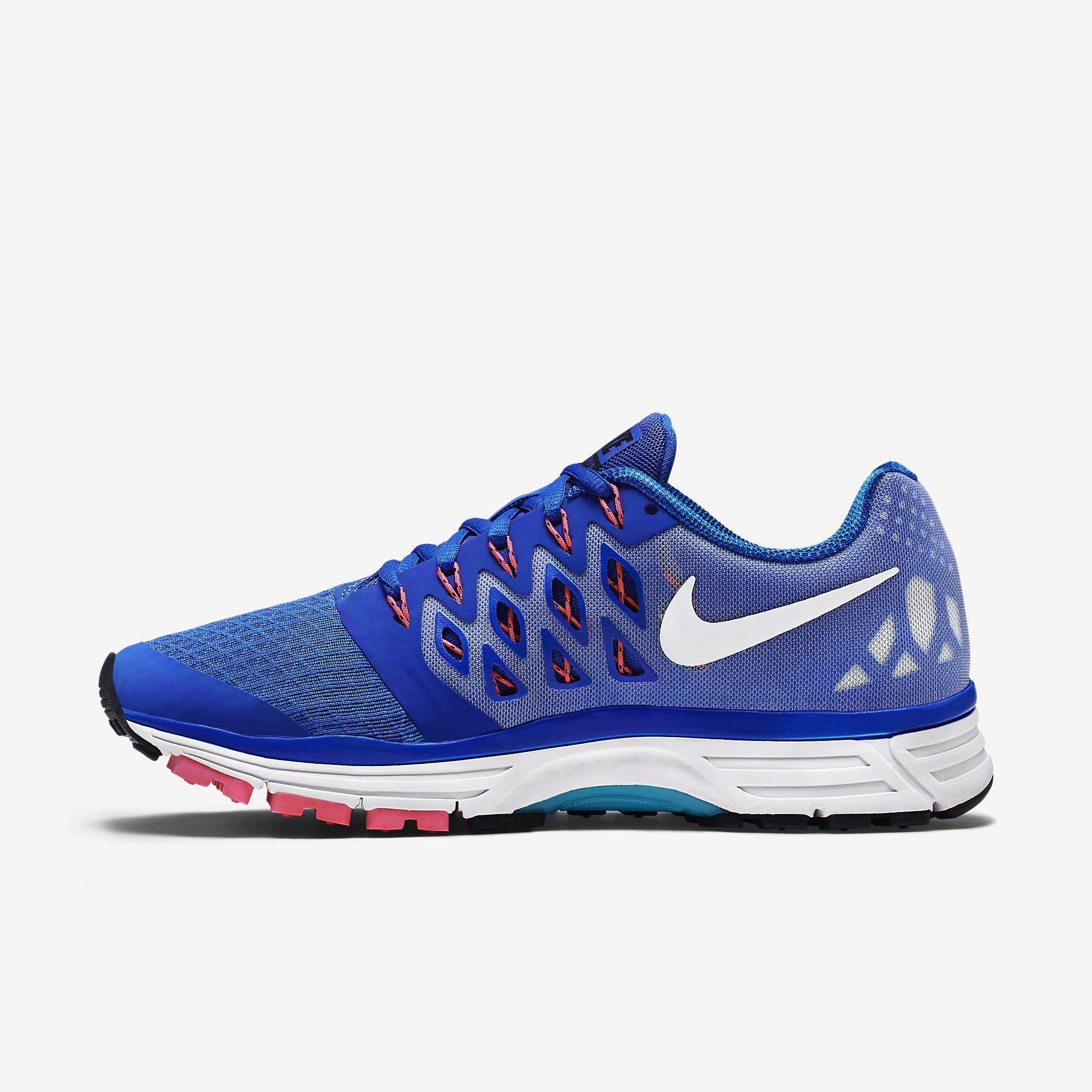 4c301a7e28dc Nike Womens Zoom Vomero 9 Running Shoes - Lyon Blue White Pink Pow ...