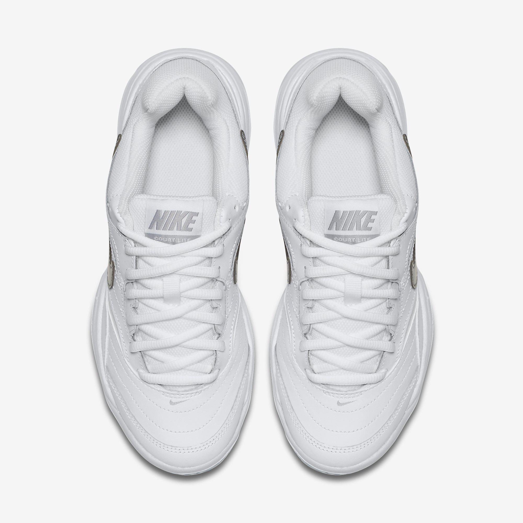 bdd8d8dfd3e Nike Womens Lite Tennis Shoes - White Grey - Tennisnuts.com