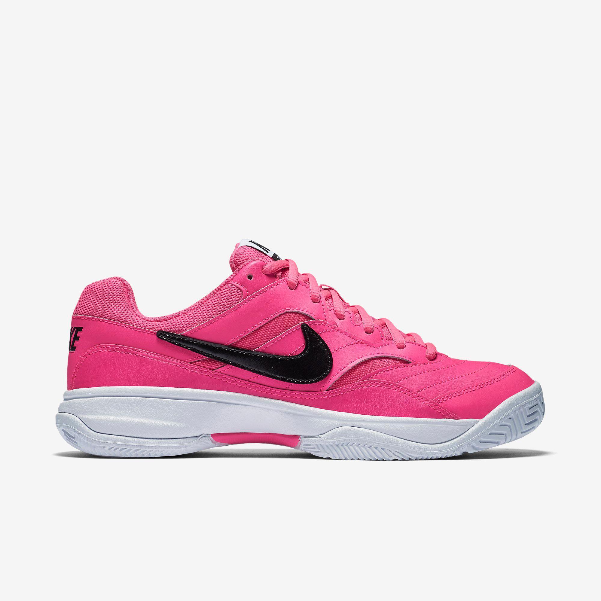 19815176 Nike Womens Court Lite Tennis Shoes - Pink Blast/Black - Tennisnuts.com