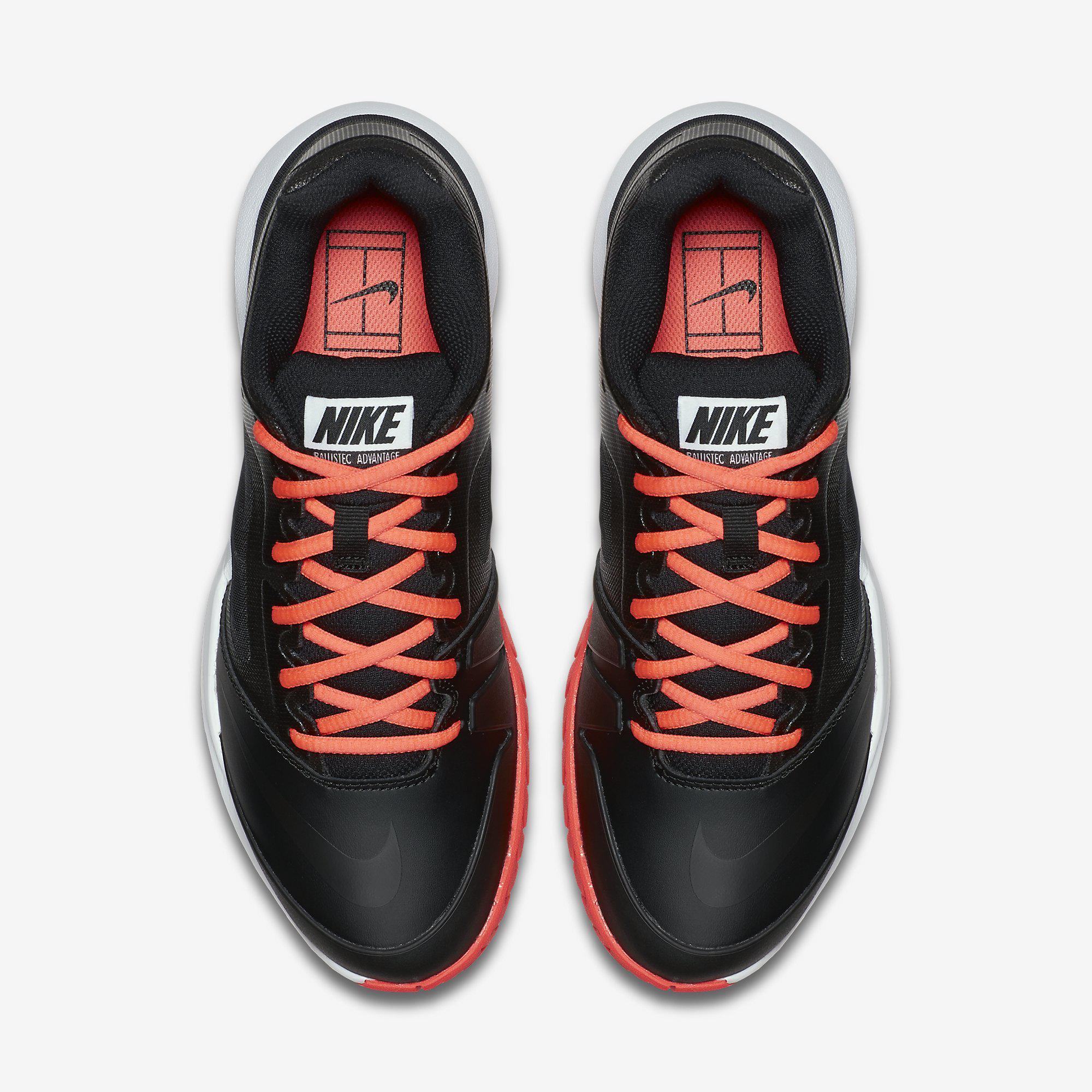 huge discount fc508 2f44a Nike Womens Dual Fusion Ballistec Advantage Tennis Shoes - Black Hot Lava