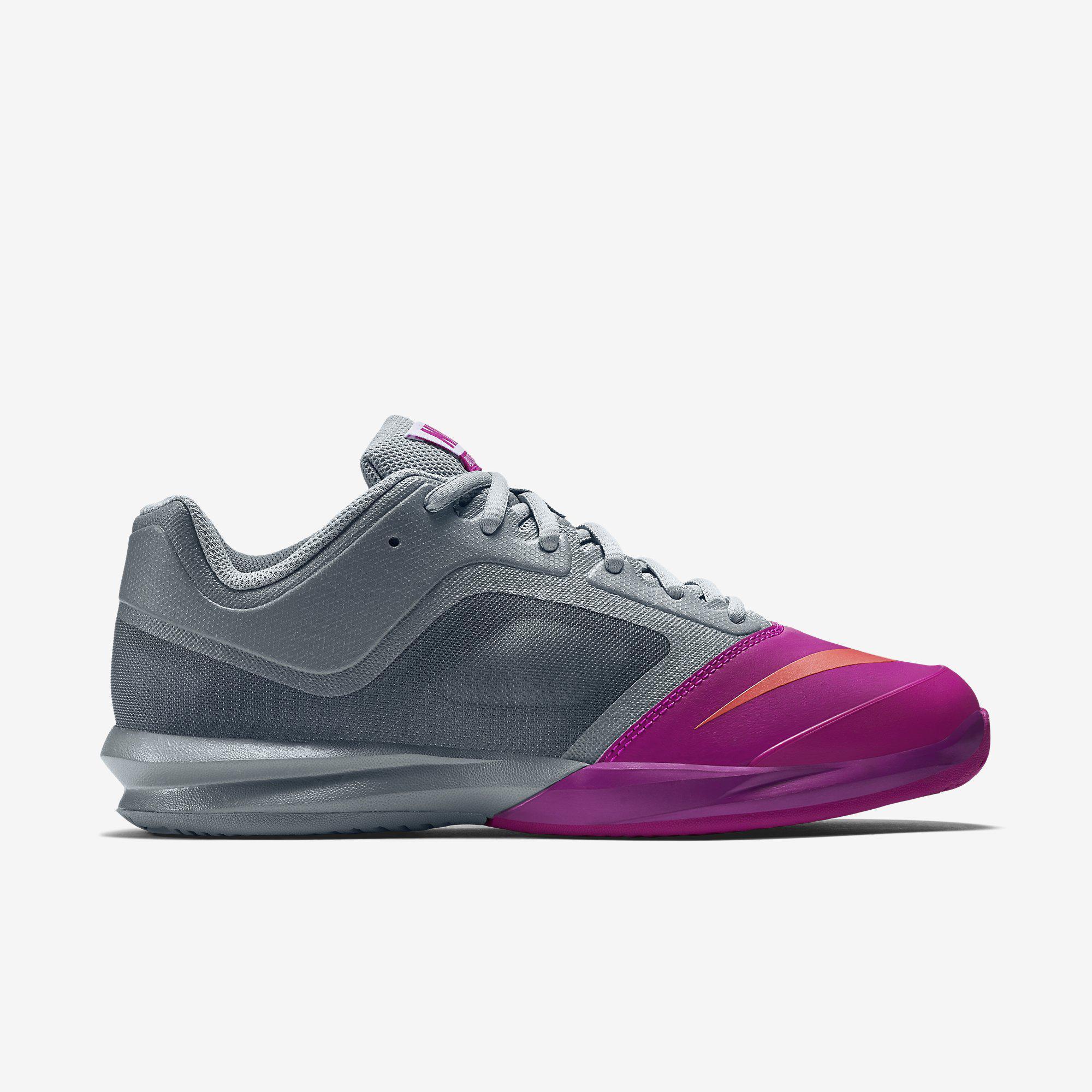 purchase cheap 63899 50bfa Nike Womens Dual Fusion Ballistec Advantage Tennis Shoes - Dove  Grey Fuchsia Flash - Tennisnuts.com
