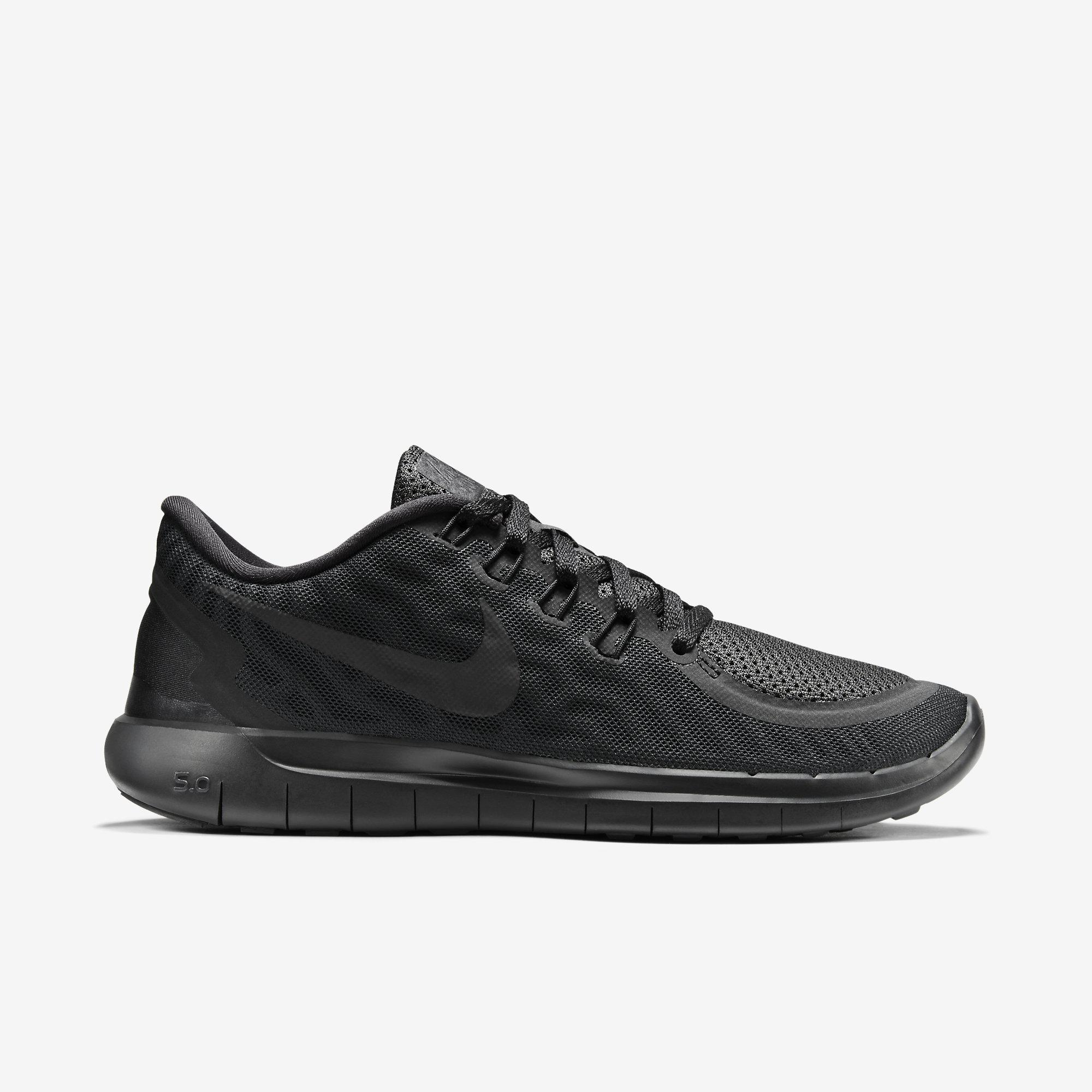 15ce2851dce5b Nike Womens Free 5.0+ Running Shoes - Black Anthracite - Tennisnuts.com