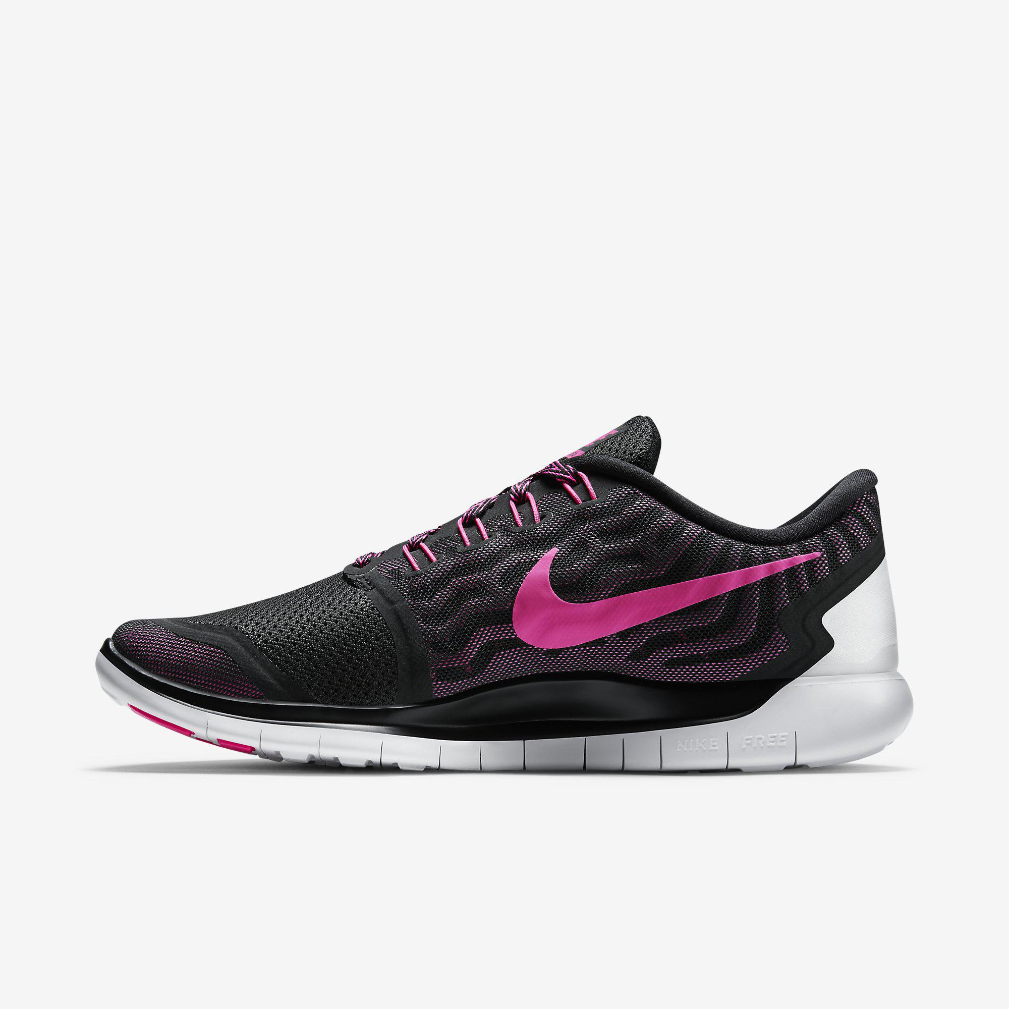 official photos 8122f 8999d Nike Womens Free 5.0+ Running Shoes - Black Pink