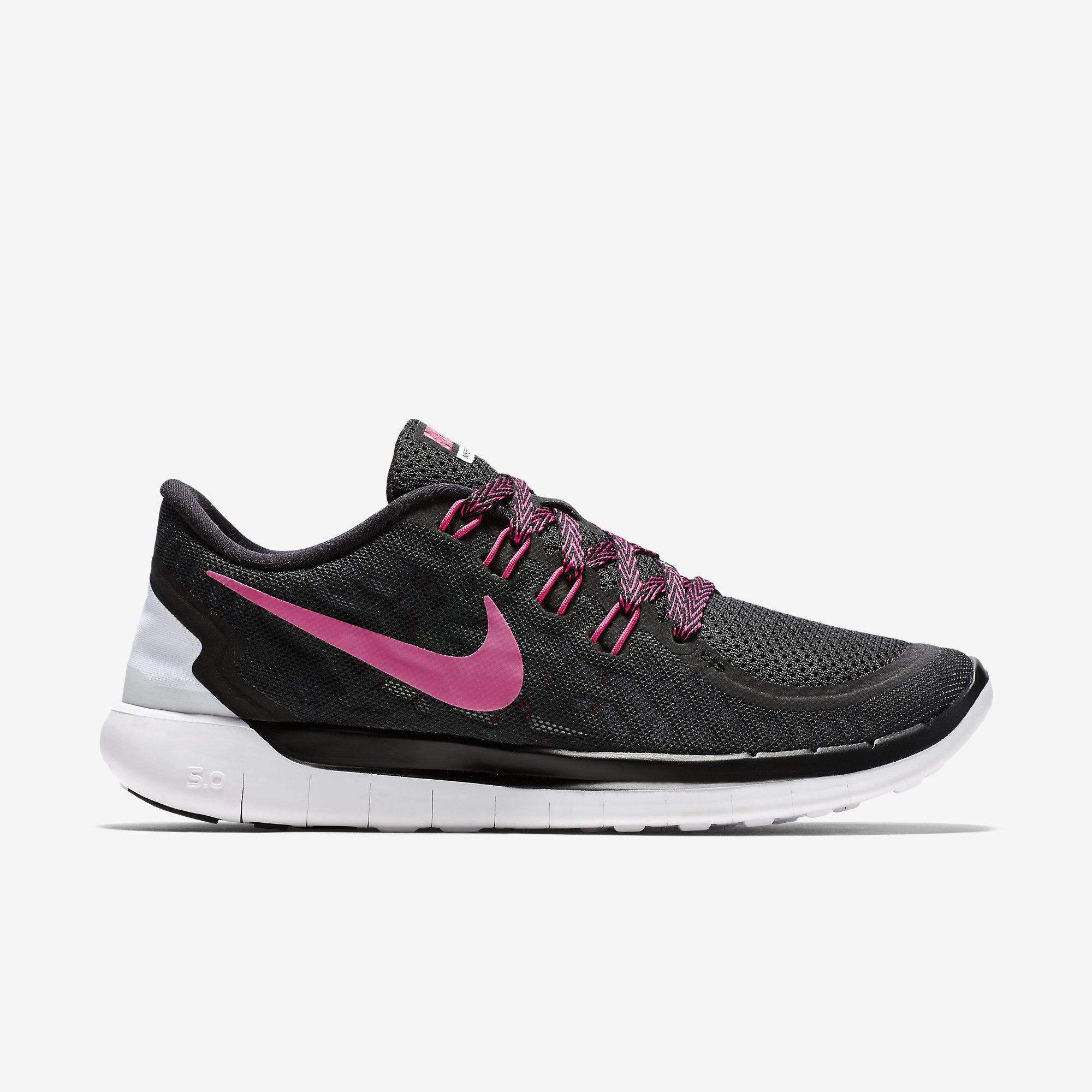 new concept 9b170 ab1b8 Nike Womens Free 5.0 Running Shoes - BlackPink - Tennisnuts.