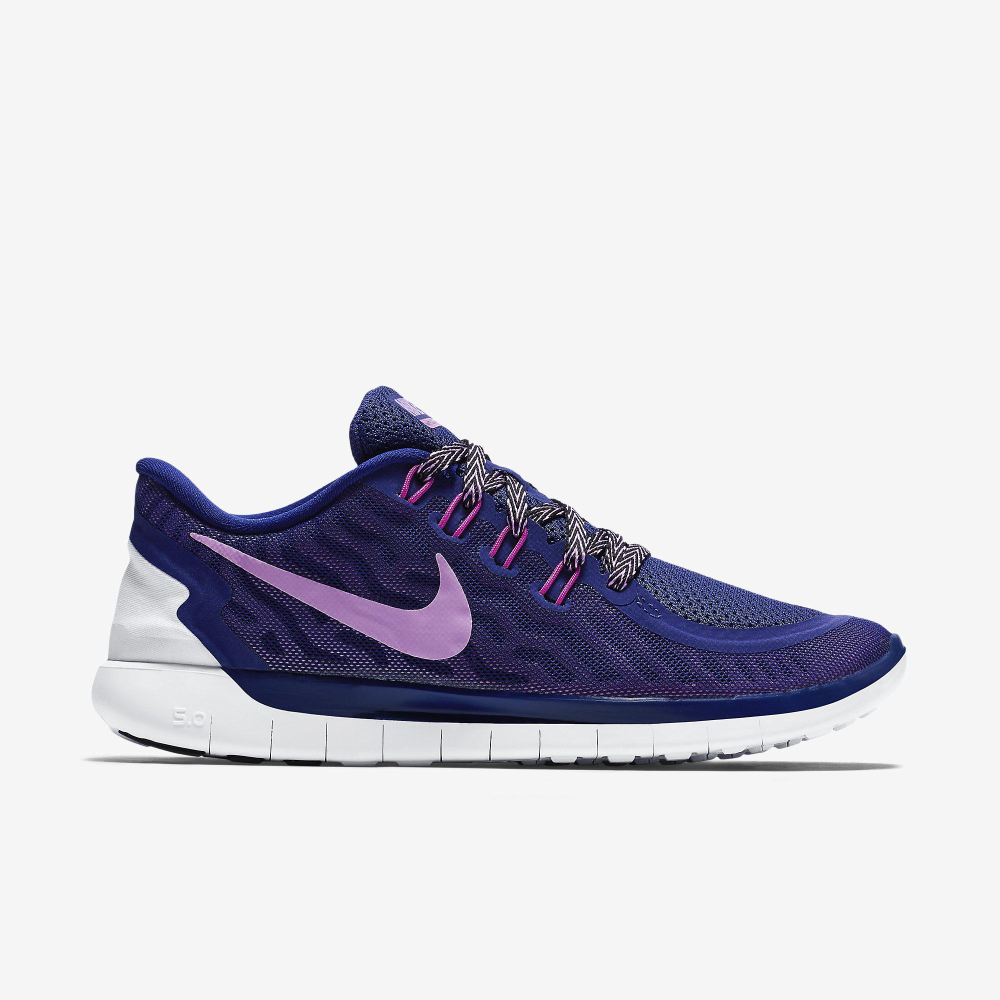 6acd824c1436 Nike Womens Free 5.0+ Running Shoes - Deep Royal Blue Fuchsia Flash -  Tennisnuts.com
