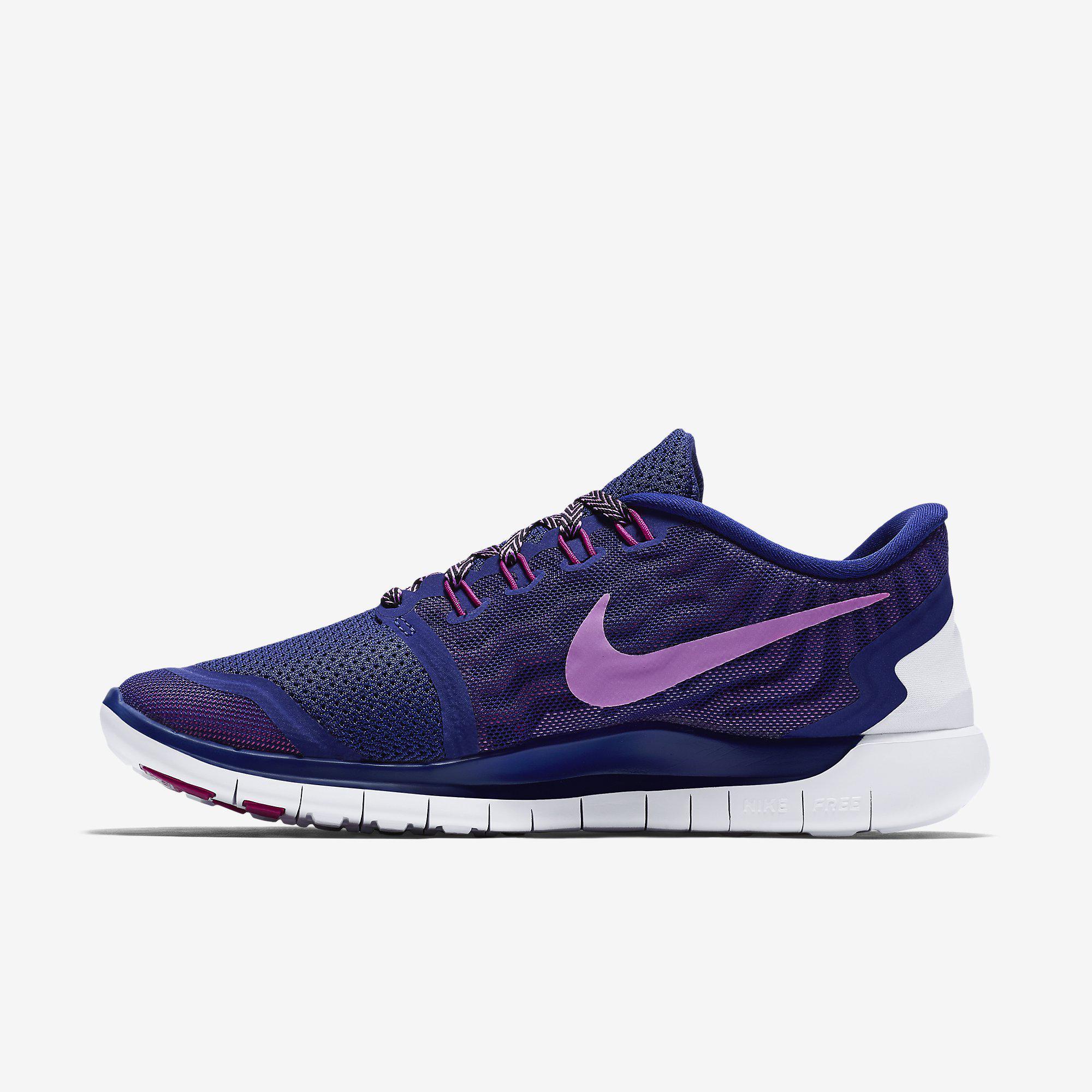 Nike Damenns Free 5.0+ Running schuhe Deep Royal BlueFuchsia Flash