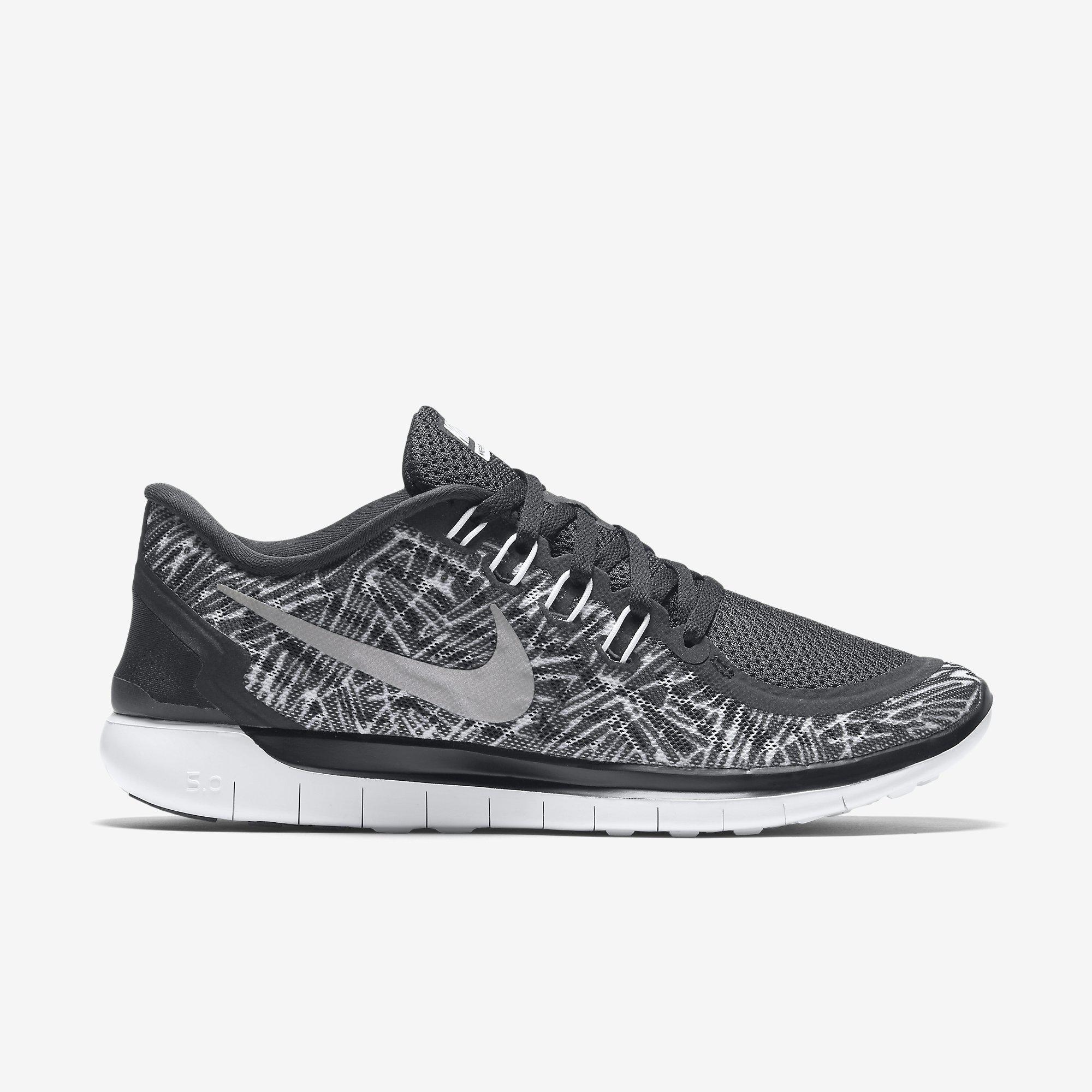 Nike Womens Free 5.0 Print Running Shoes - Black White - Tennisnuts.com fde8e82f7