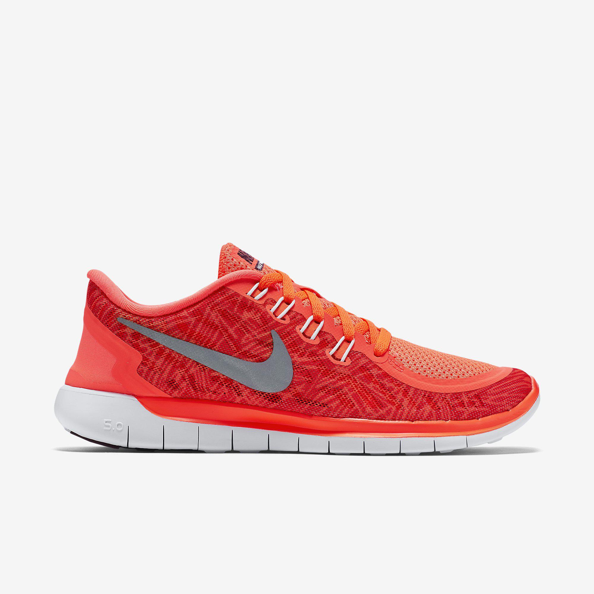 2dfdb7366f3c Nike Womens Free 5.0 Print Running Shoes - Hyper Orange - Tennisnuts.com
