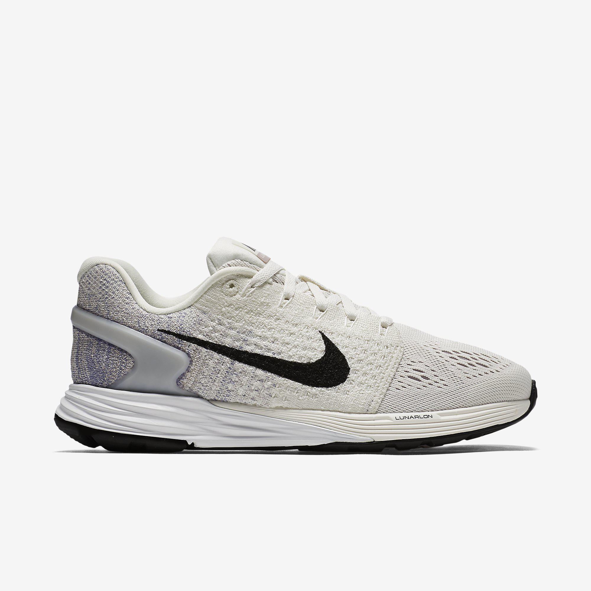d267ebd3d3f3 Nike Womens LunarGlide 7 Running Shoes - White - Tennisnuts.com