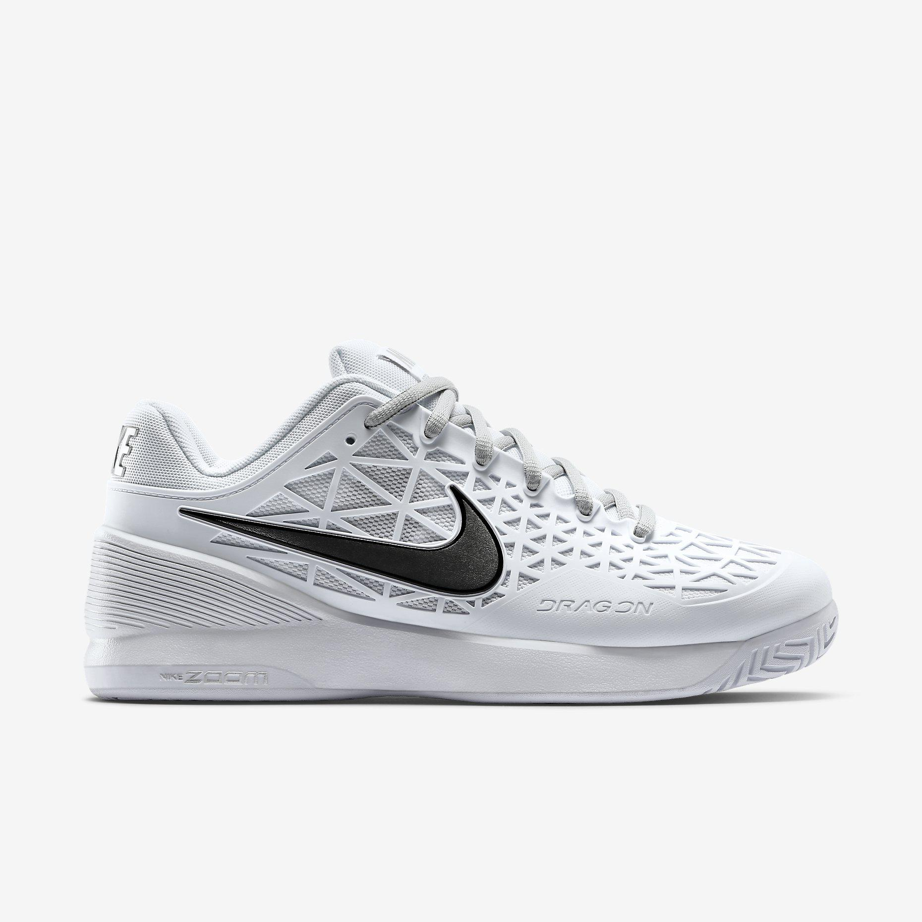 05c670fa7812 Nike Womens Zoom Cage 2 Tennis Shoes - White - Tennisnuts.com