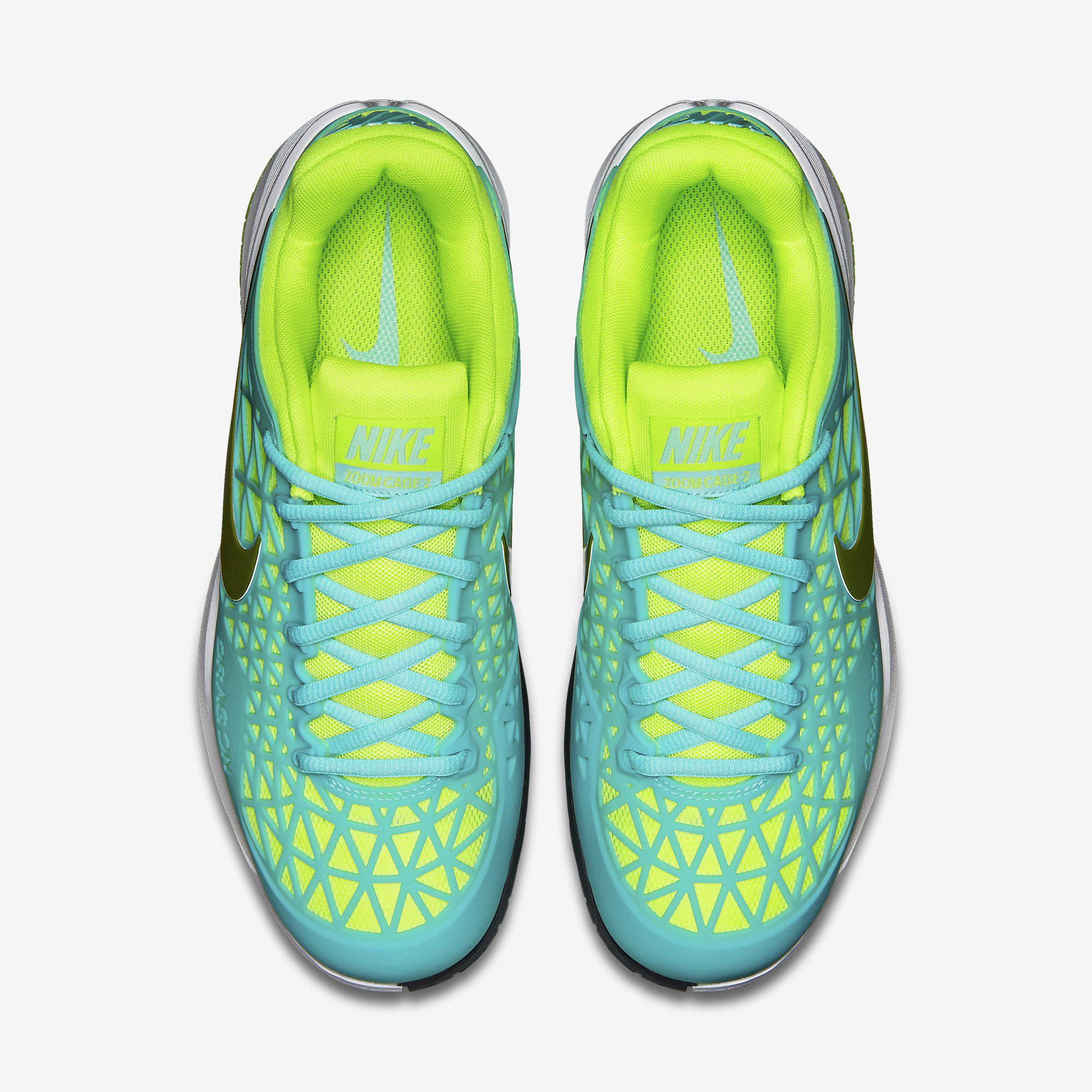 43453f3c73af Nike Womens Zoom Cage 2 Tennis Shoes - Light Aqua White - Tennisnuts.com