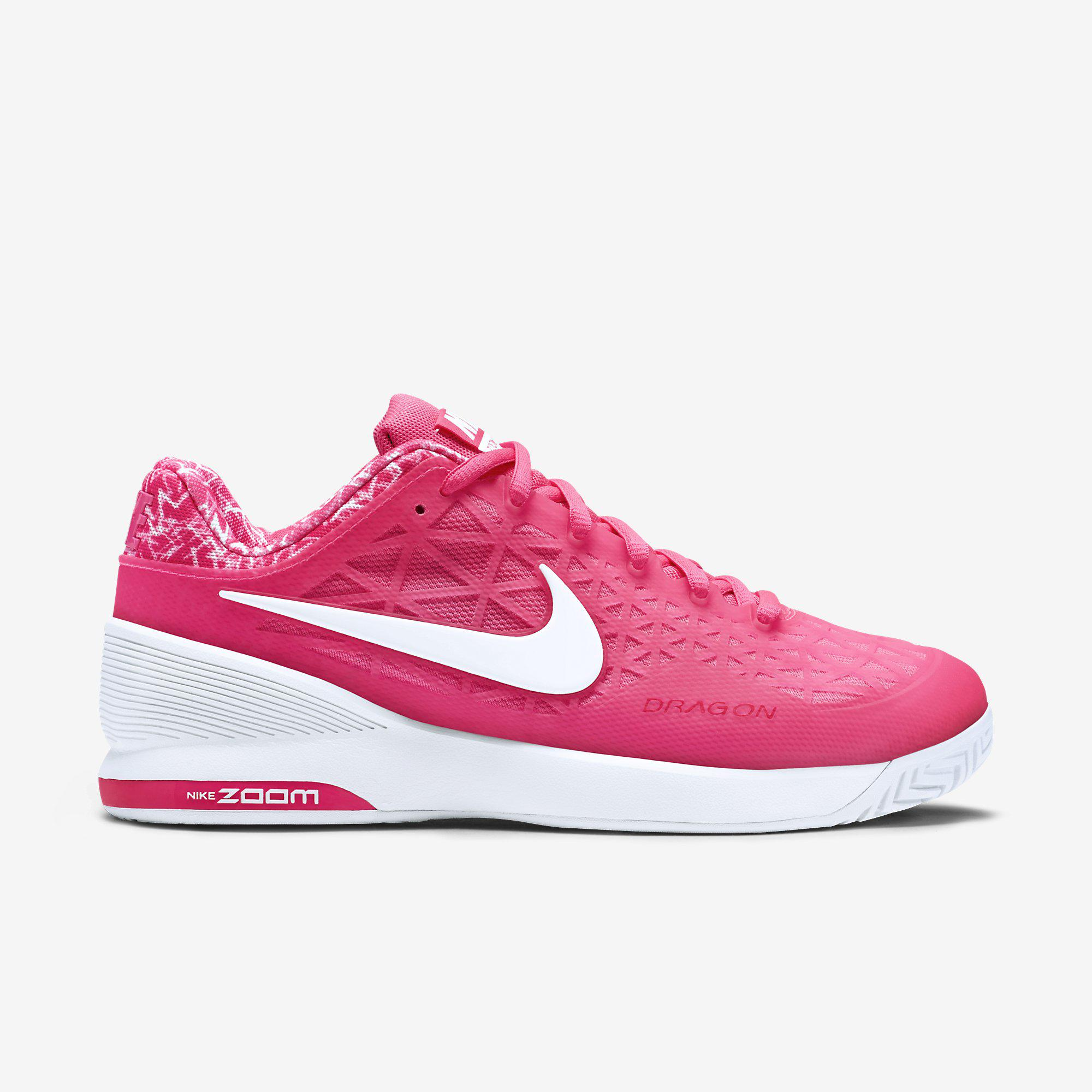 eafddd3526b6 Nike Womens Zoom Cage 2 Tennis Shoes - Pink White - Tennisnuts.com