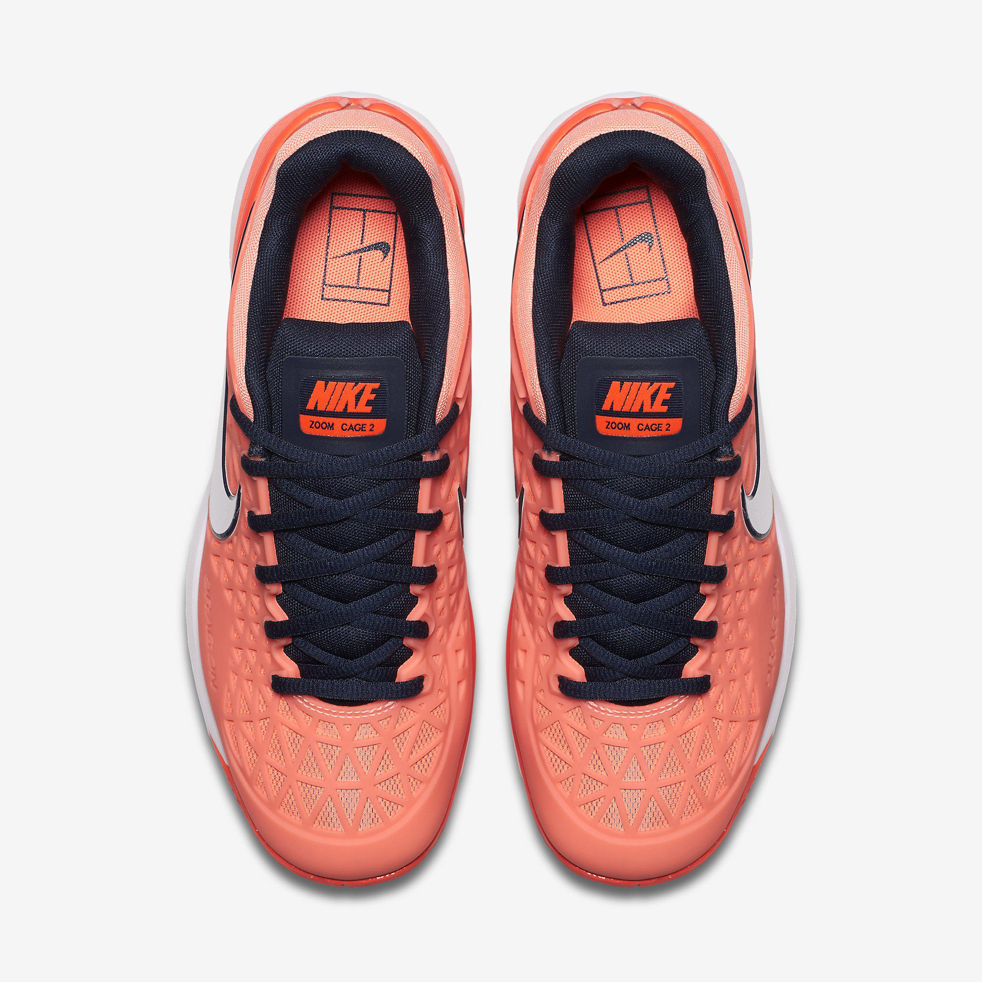 Nike Womens Zoom Cage 2 Tennis Shoes - Orange Coral - Tennisnuts.com b0031e7c6fe