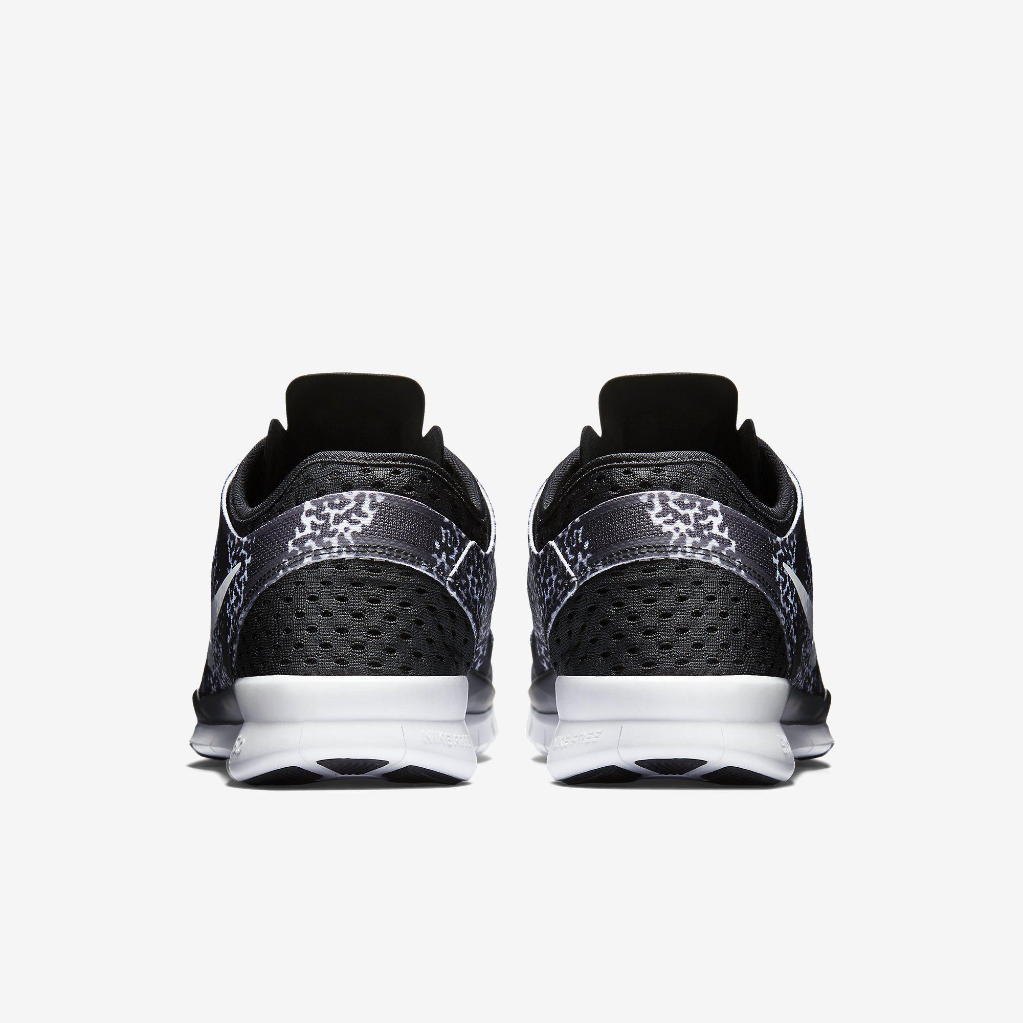 Nike Free 5.0 Tr Fit 5 Prt Foto In Bianco E Nero sCJS27