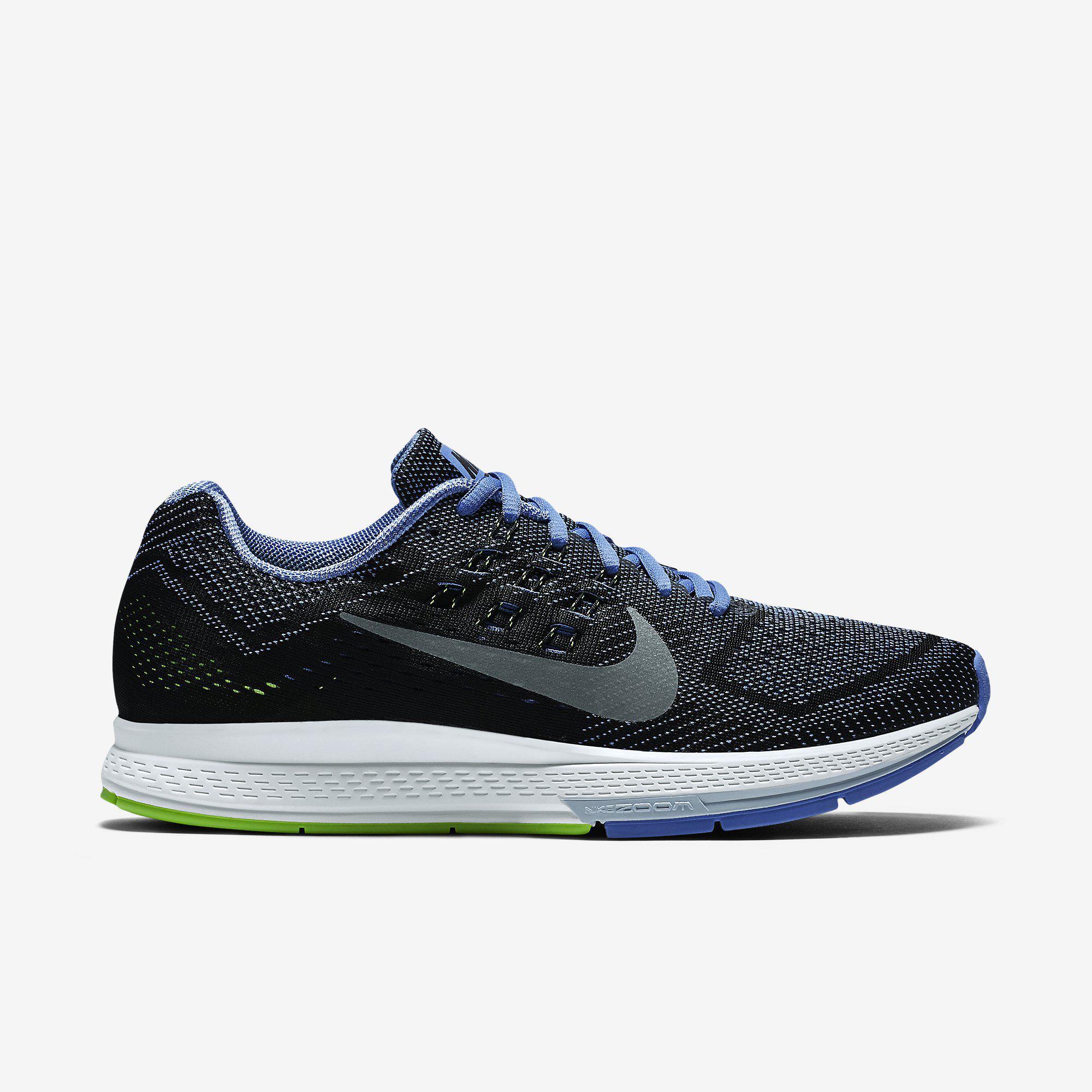 68417e8122c Nike Womens Air Zoom Structure 18 Running Shoes - Polar Black -  Tennisnuts.com