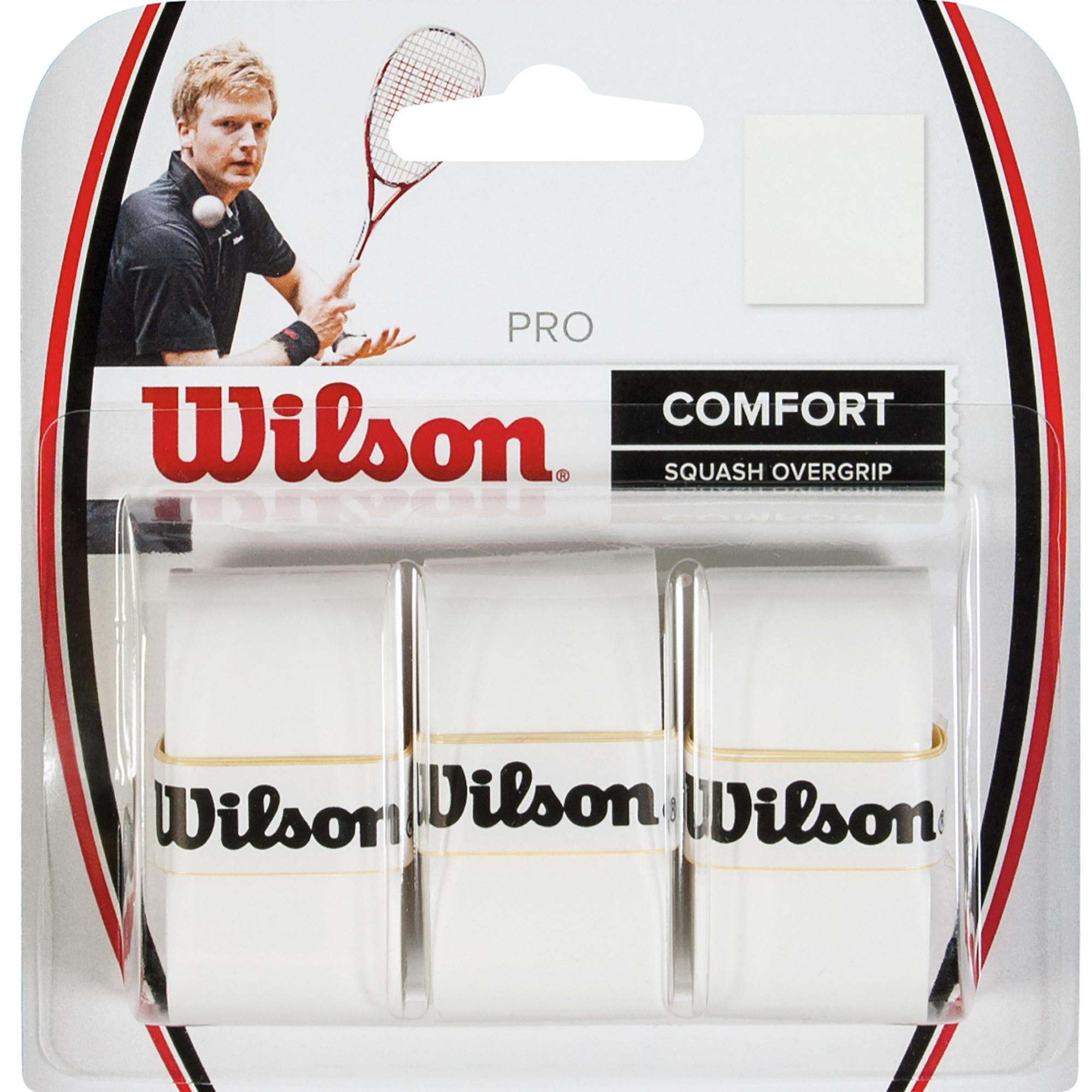 Wilson Tennis Racquet Pro Over Grip Pack of 3 White