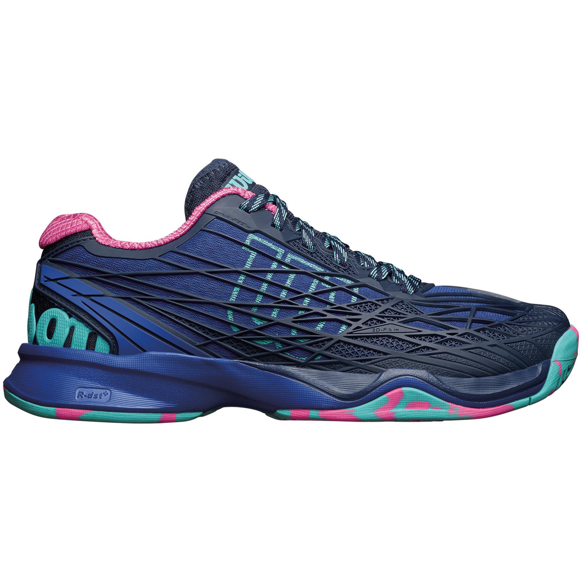 new style b7474 f599e Wilson Womens Kaos Tennis Shoes - Blue - Tennisnuts.com