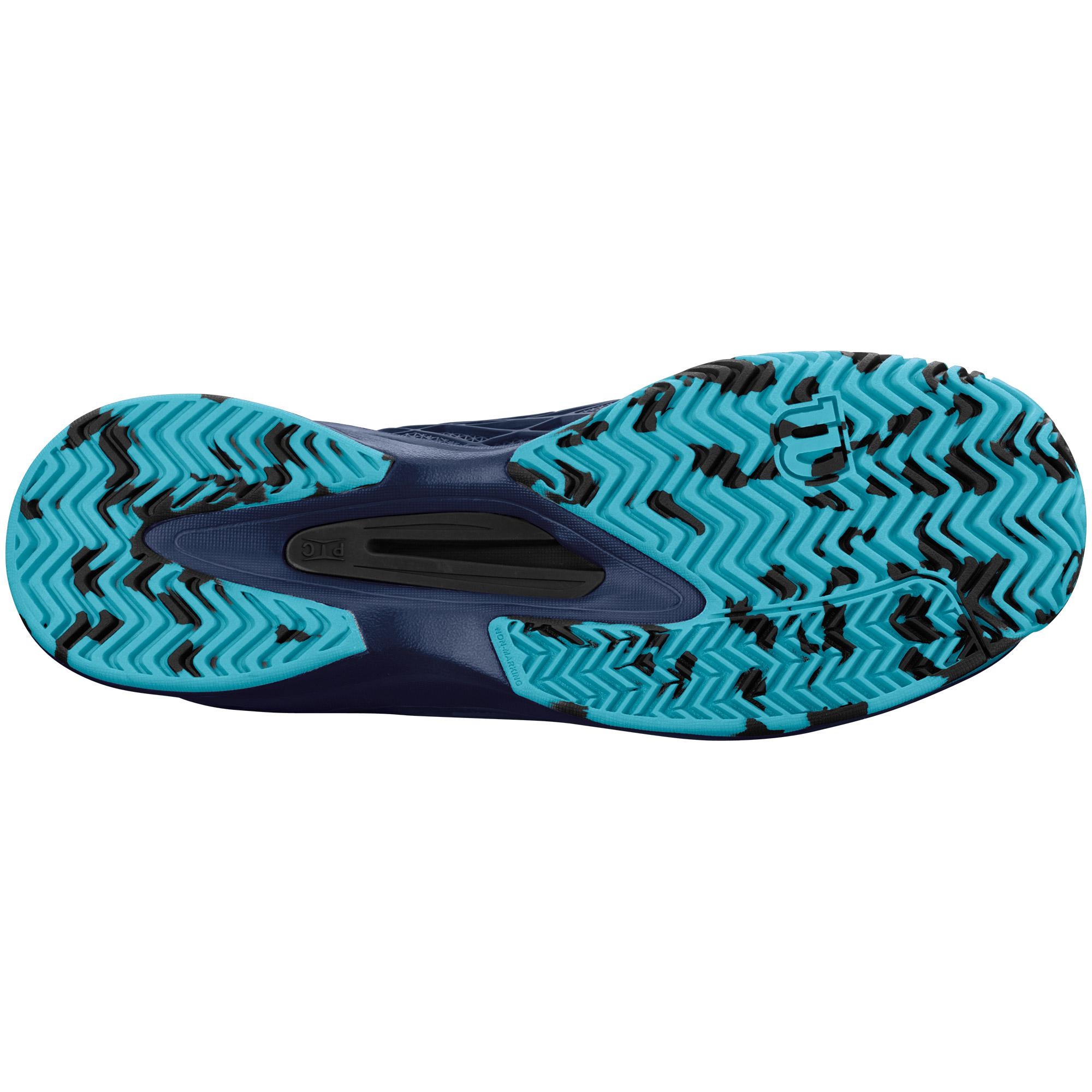 Navy//Navy//Cool Mint  WRS322040 Wilson Mens KAOS Tennis Shoe