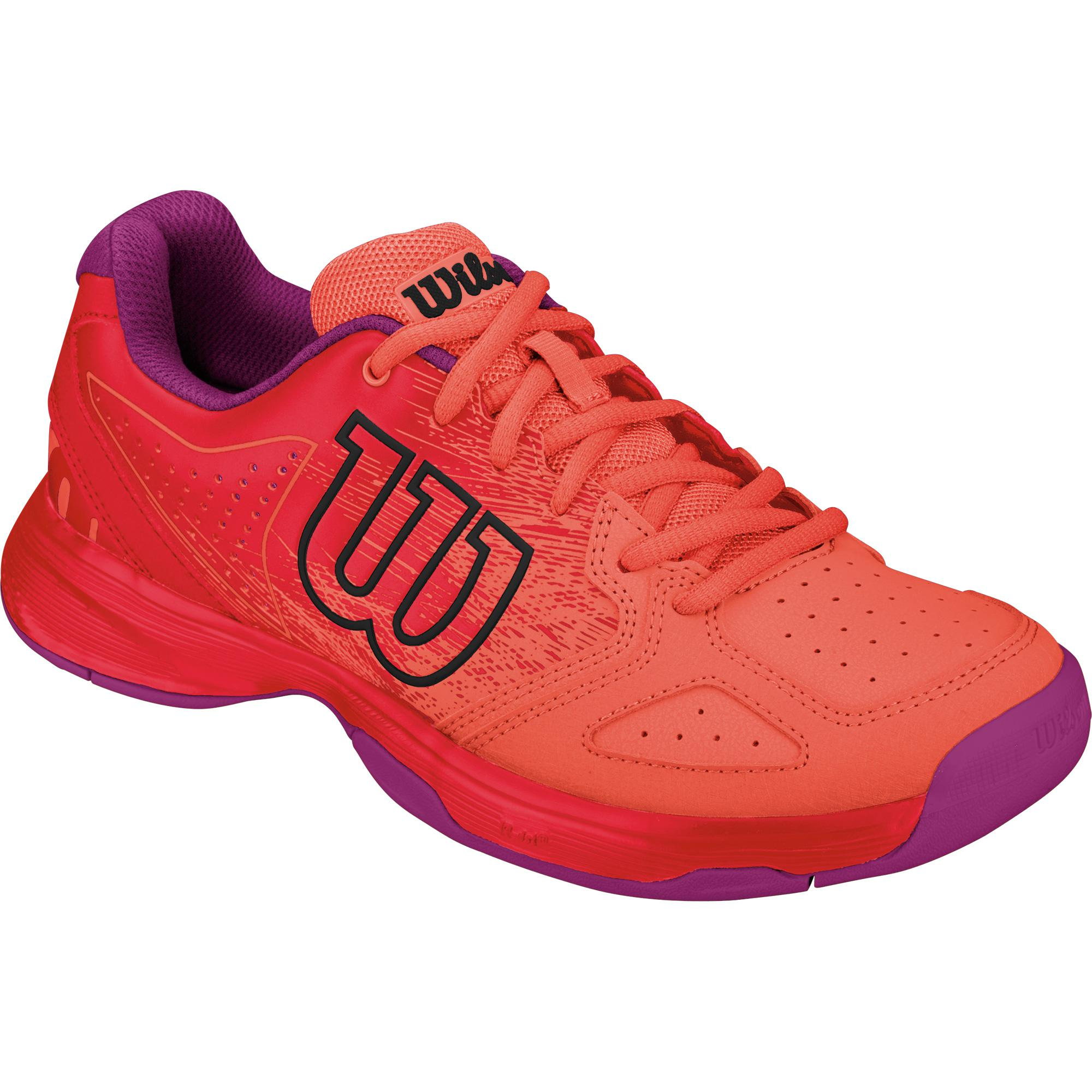 wilson kaos comp tennis shoes coral