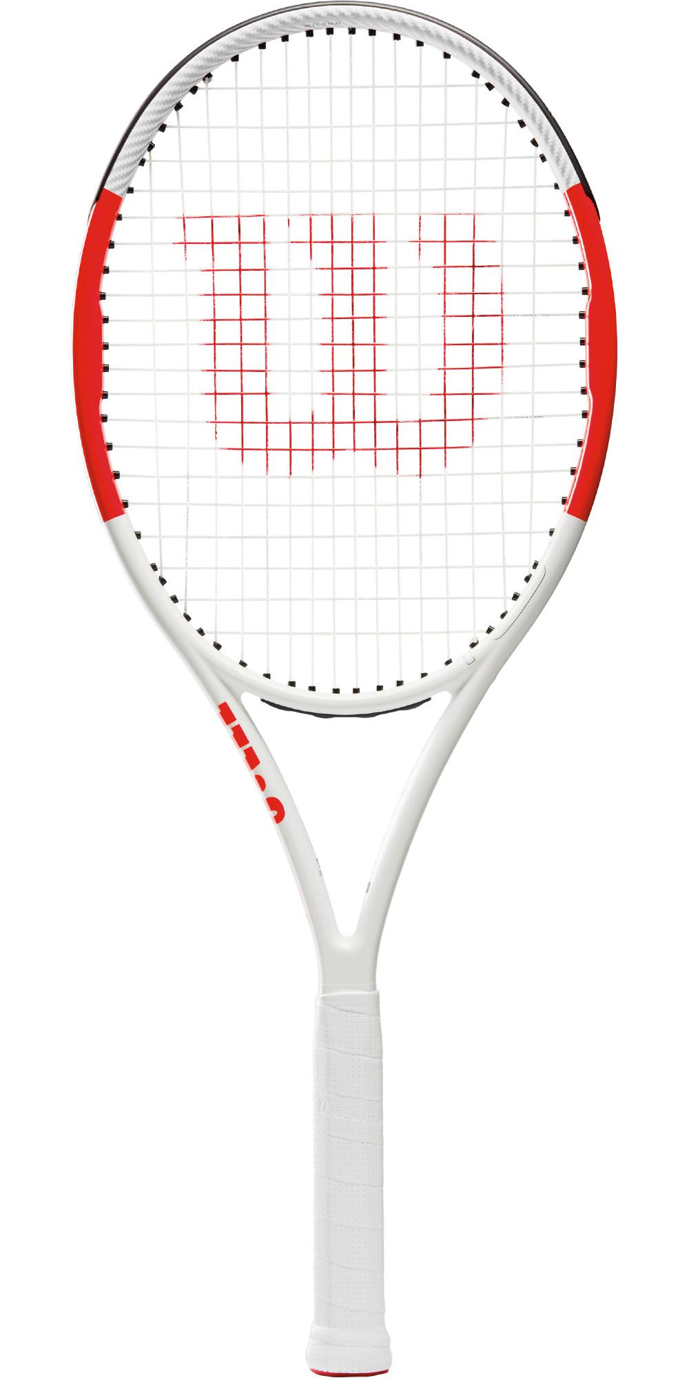 wilson six one lite 102 tennis racket white red. Black Bedroom Furniture Sets. Home Design Ideas