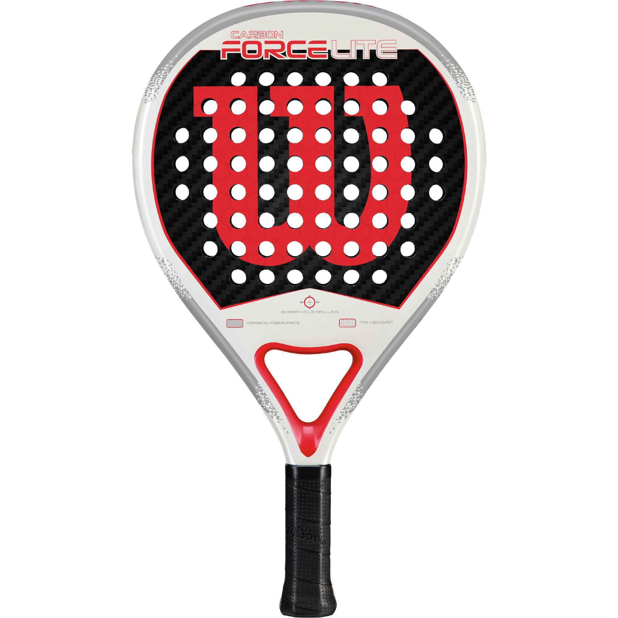 Wilson Carbon Force Lite Padel Racket - Red Black - Tennisnuts.com 239a9053f56c4