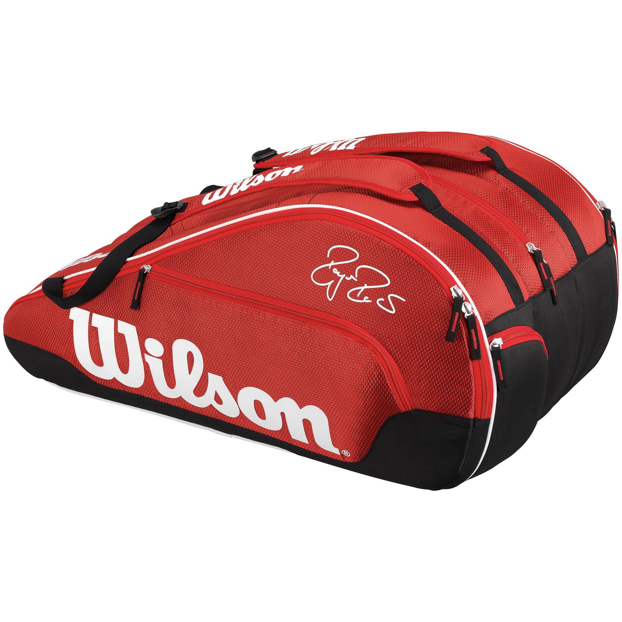 45897d49f04 Wilson Federer Team III 12 Pack Bag - Red - Tennisnuts.com