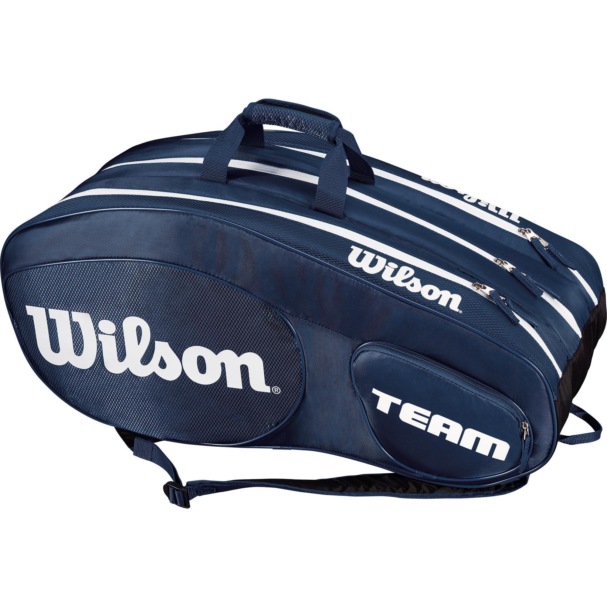 fcdd03a827a Wilson Team III 12 Pack Bag - Blue/White - Tennisnuts.com