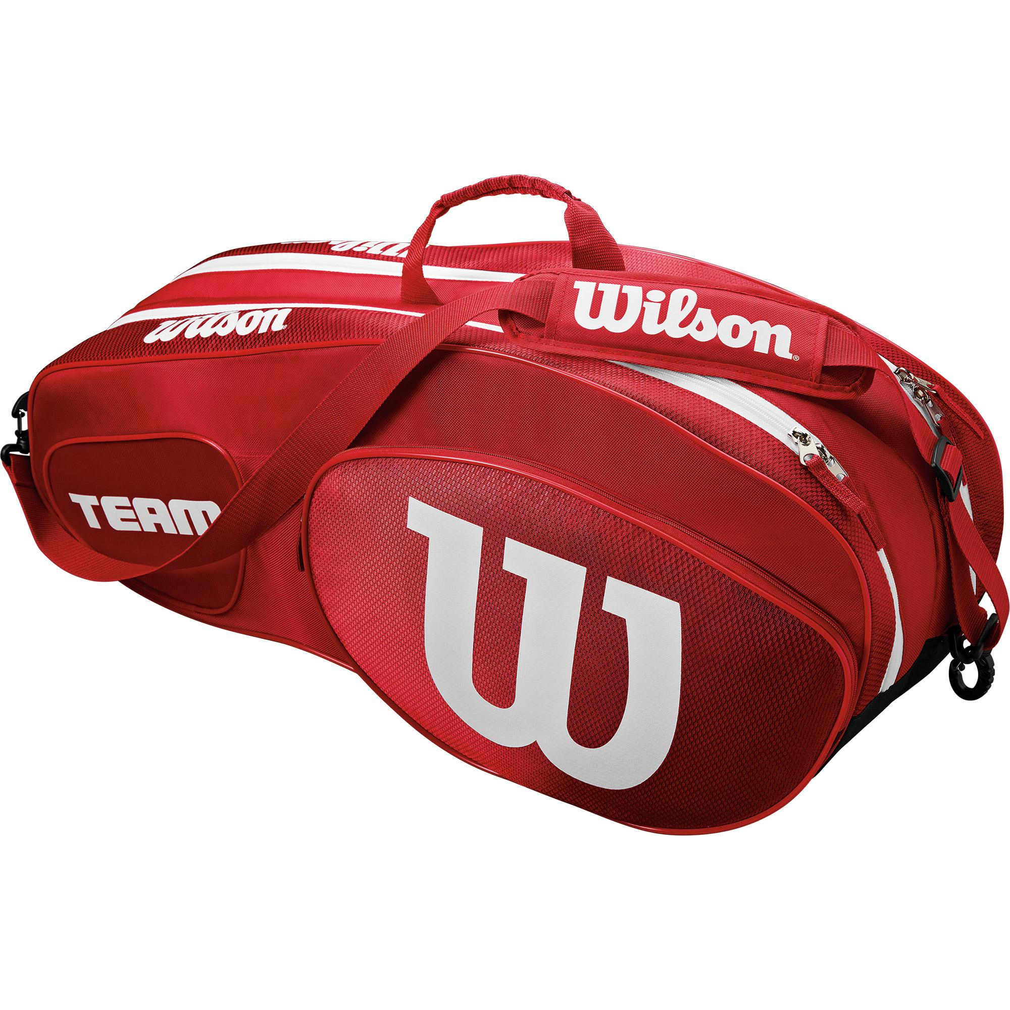 Wilson Team Iii 6 Pack Bag Red White