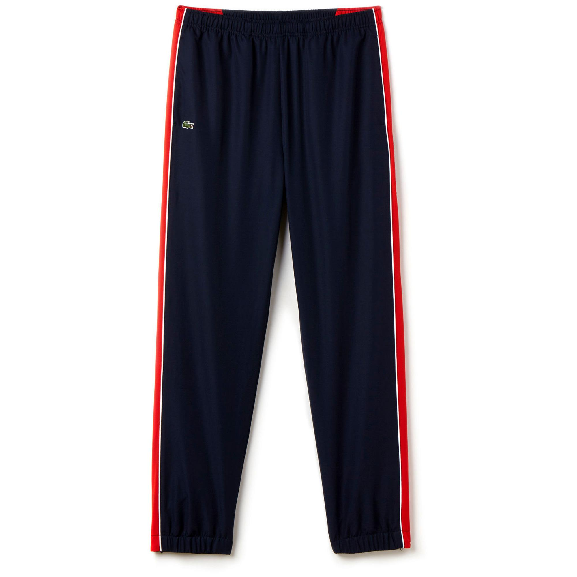 a4022145f094 Lacoste Sport Mens Tennis Trackpants - Blue Red - Tennisnuts.com