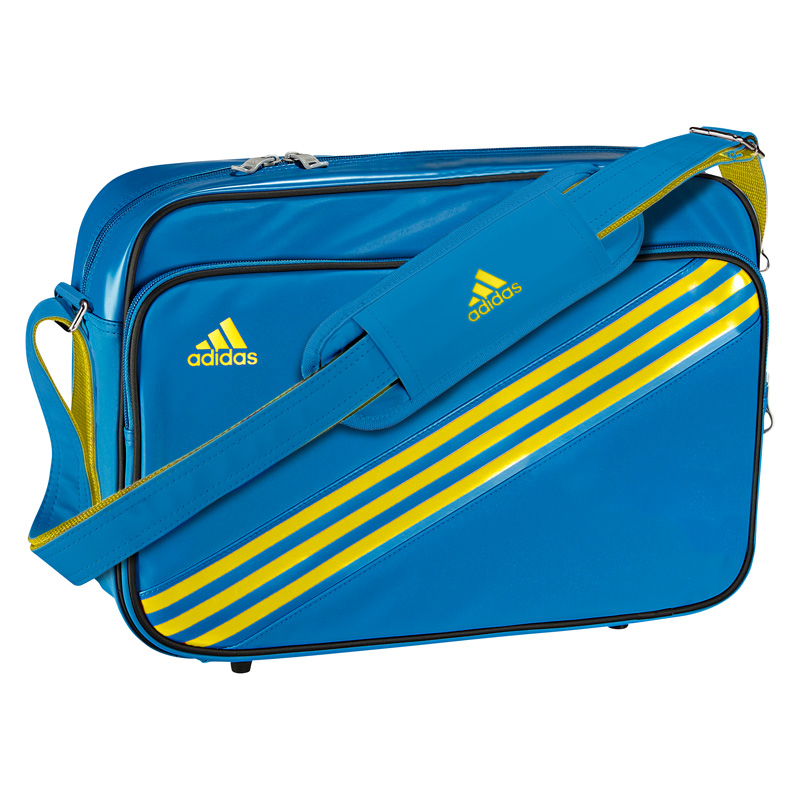 619bbeb495 Adidas Enamel Messenger Bag - Prime Blue - Tennisnuts.com