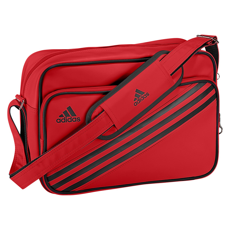 c62c15a457 Adidas Enamel Messenger Bag - Light Scarlet - Tennisnuts.com