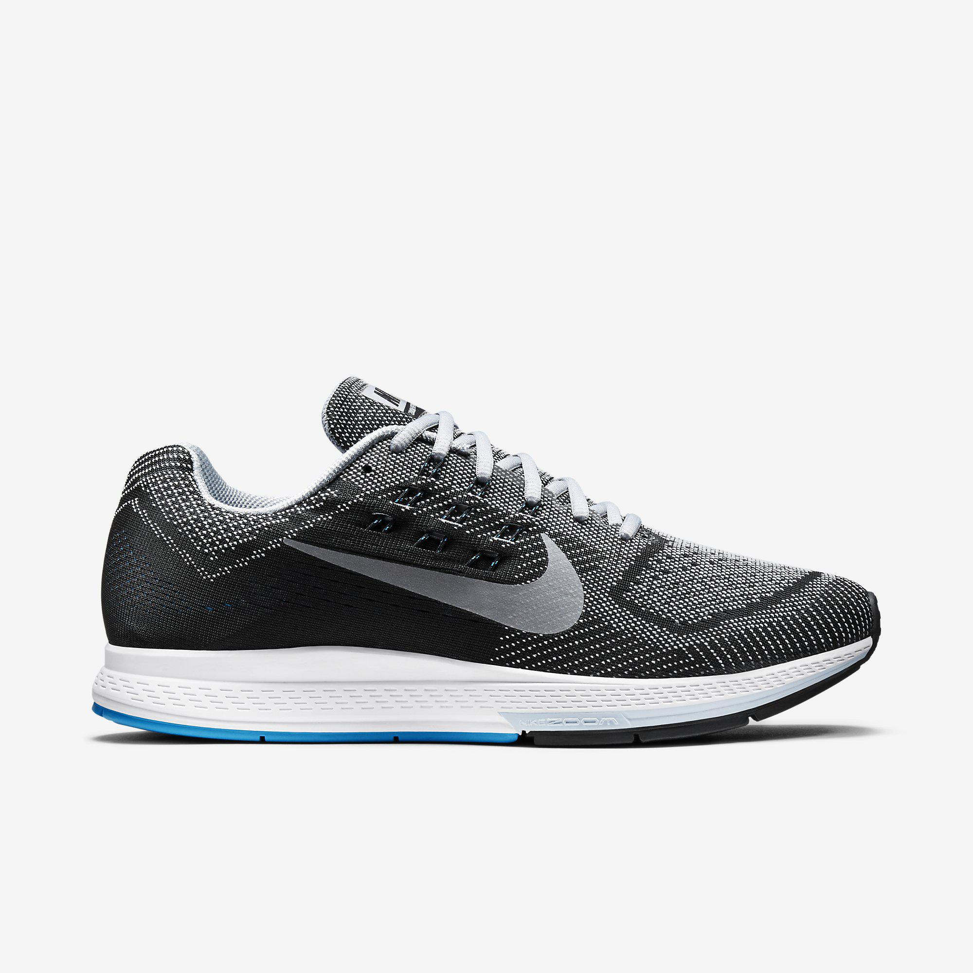 Nike Mens Air Zoom Structure 18 Running Shoes - Wolf Grey/Black