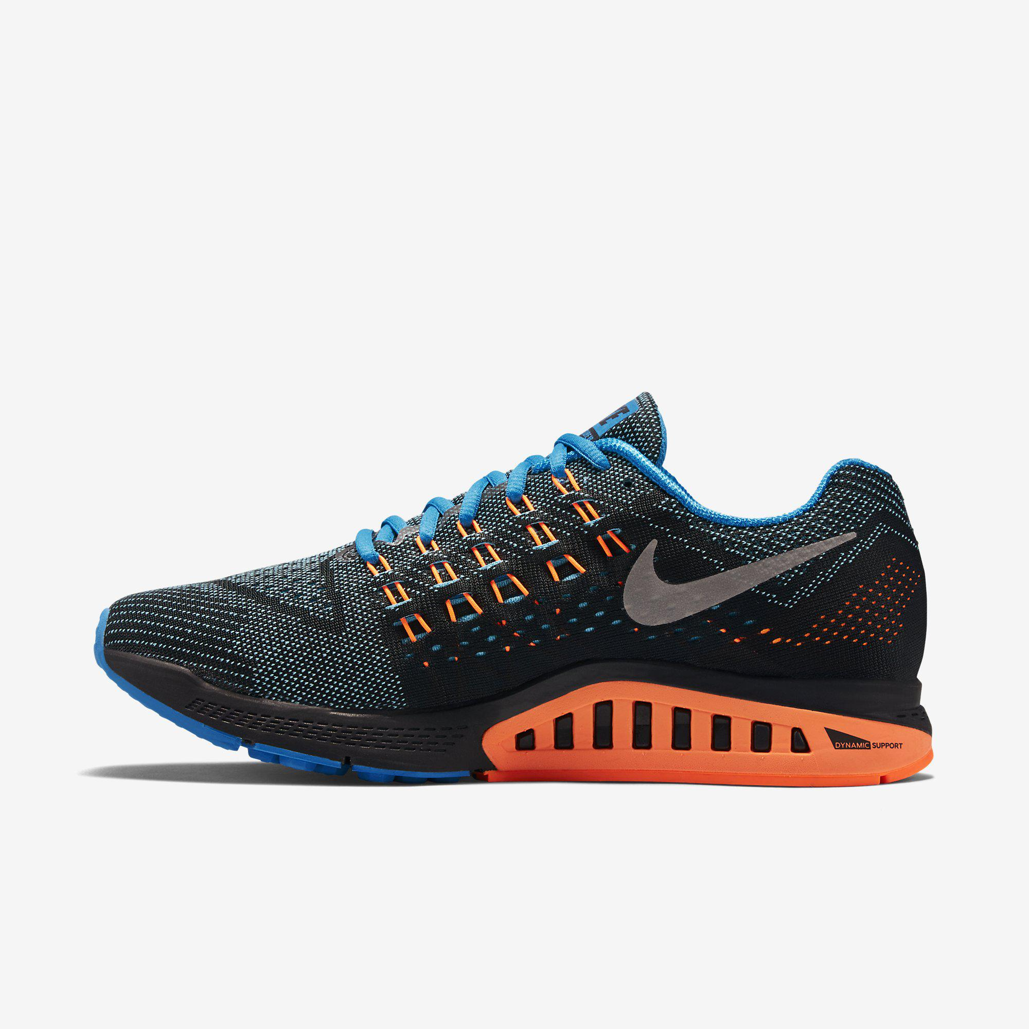 1578fac7a464 Nike Mens Air Zoom Structure 18 Running Shoes - Blue Lagoon ...