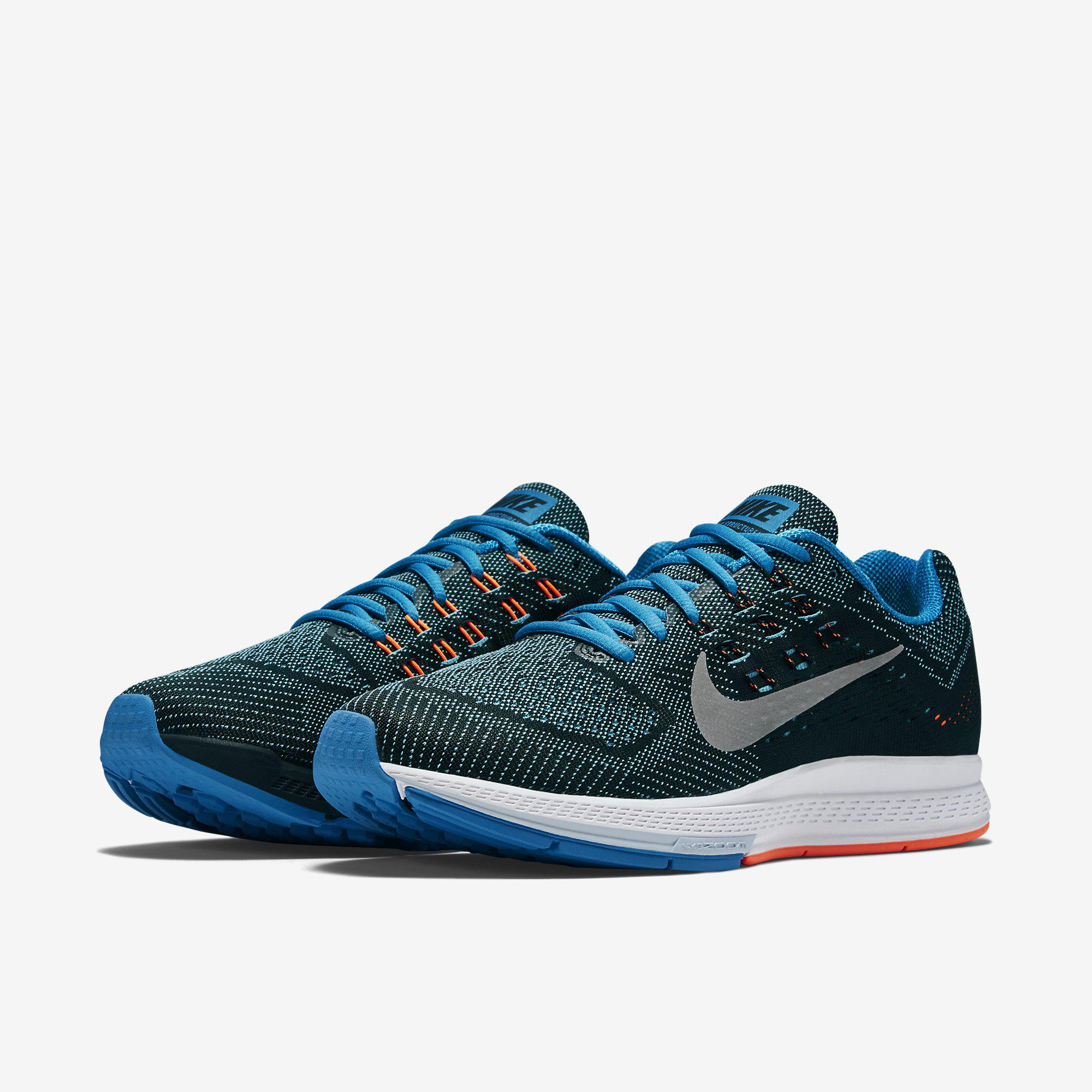 a9bf2516ca80b ... spain nike mens air zoom structure 18 running shoes blue lagoon . d7aa6  2f68c