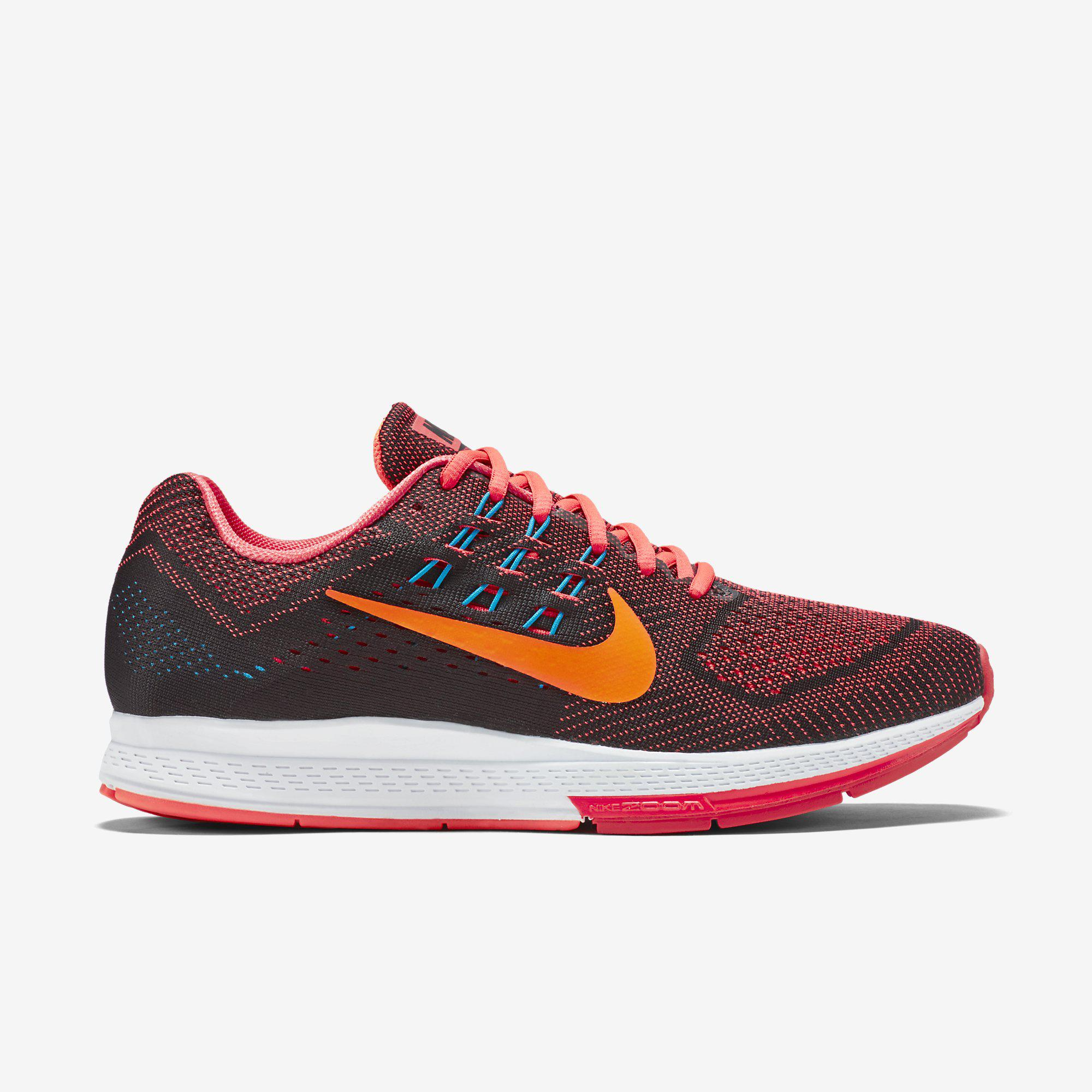 Nike Mens Air Zoom Structure 18 Running Shoes Bright CrimsonBlack