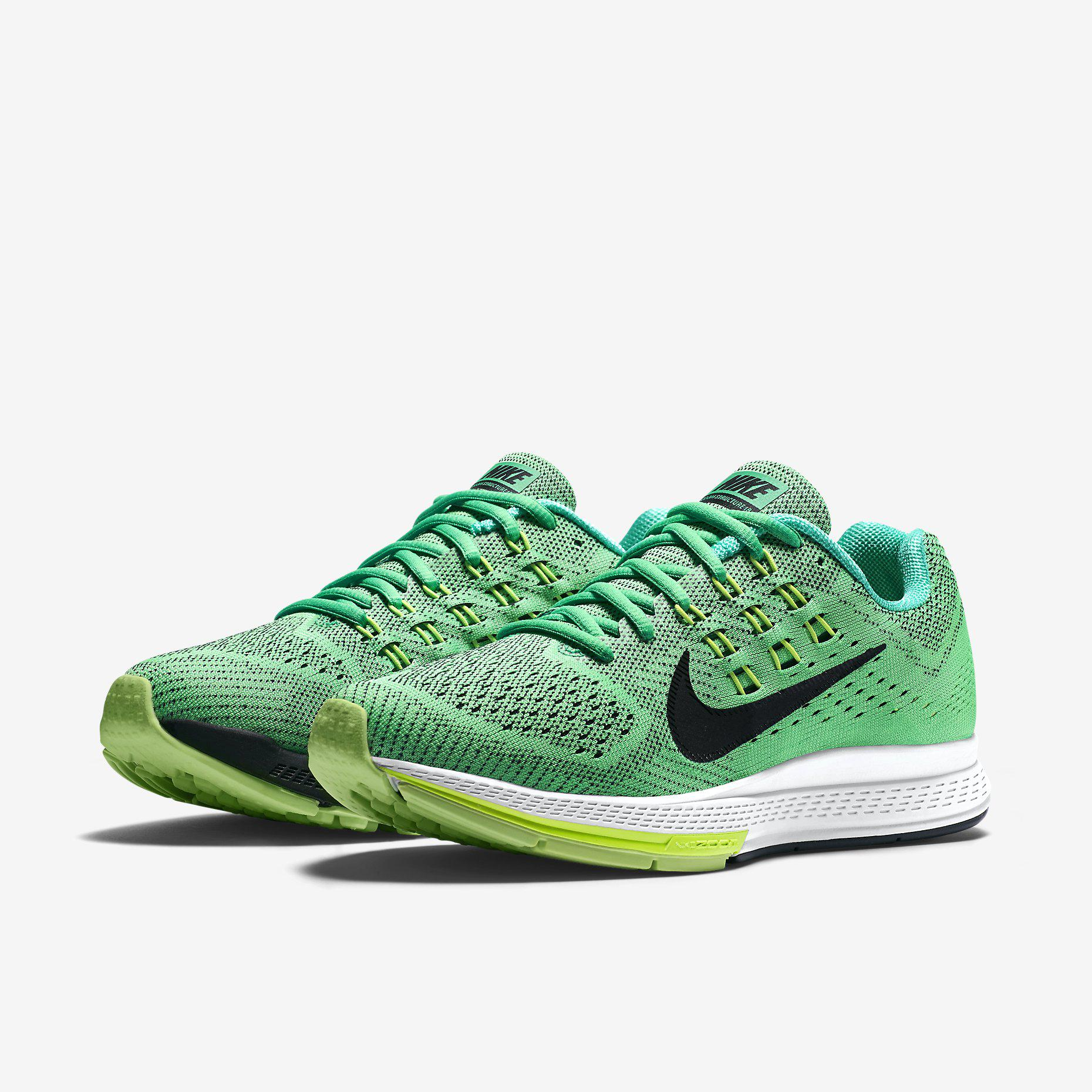 new arrival 68a8f 96178 womens nike air zoom structure 18 green